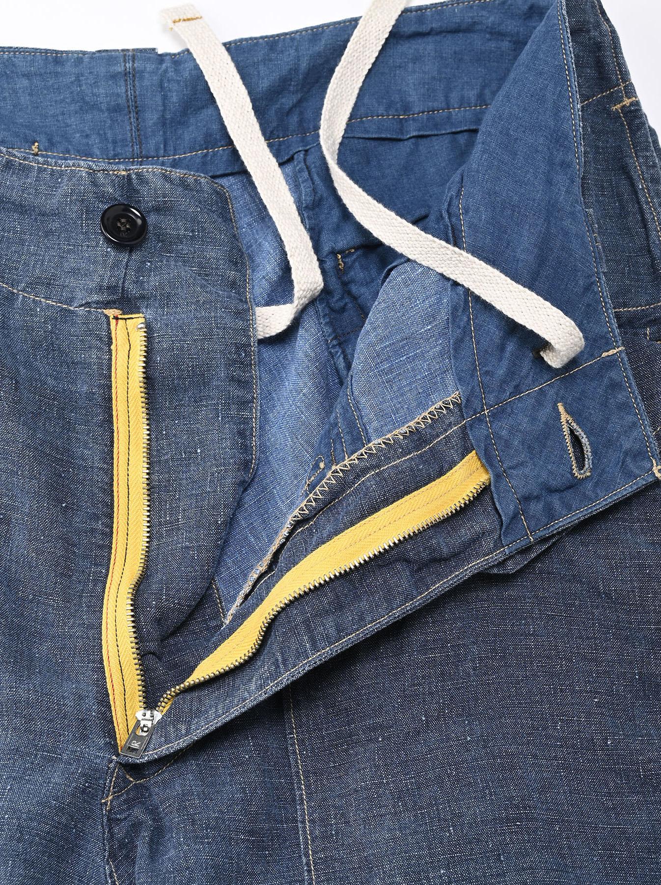 Indigo Linen 908 Easy Sail Pants Distressed (0721)-6