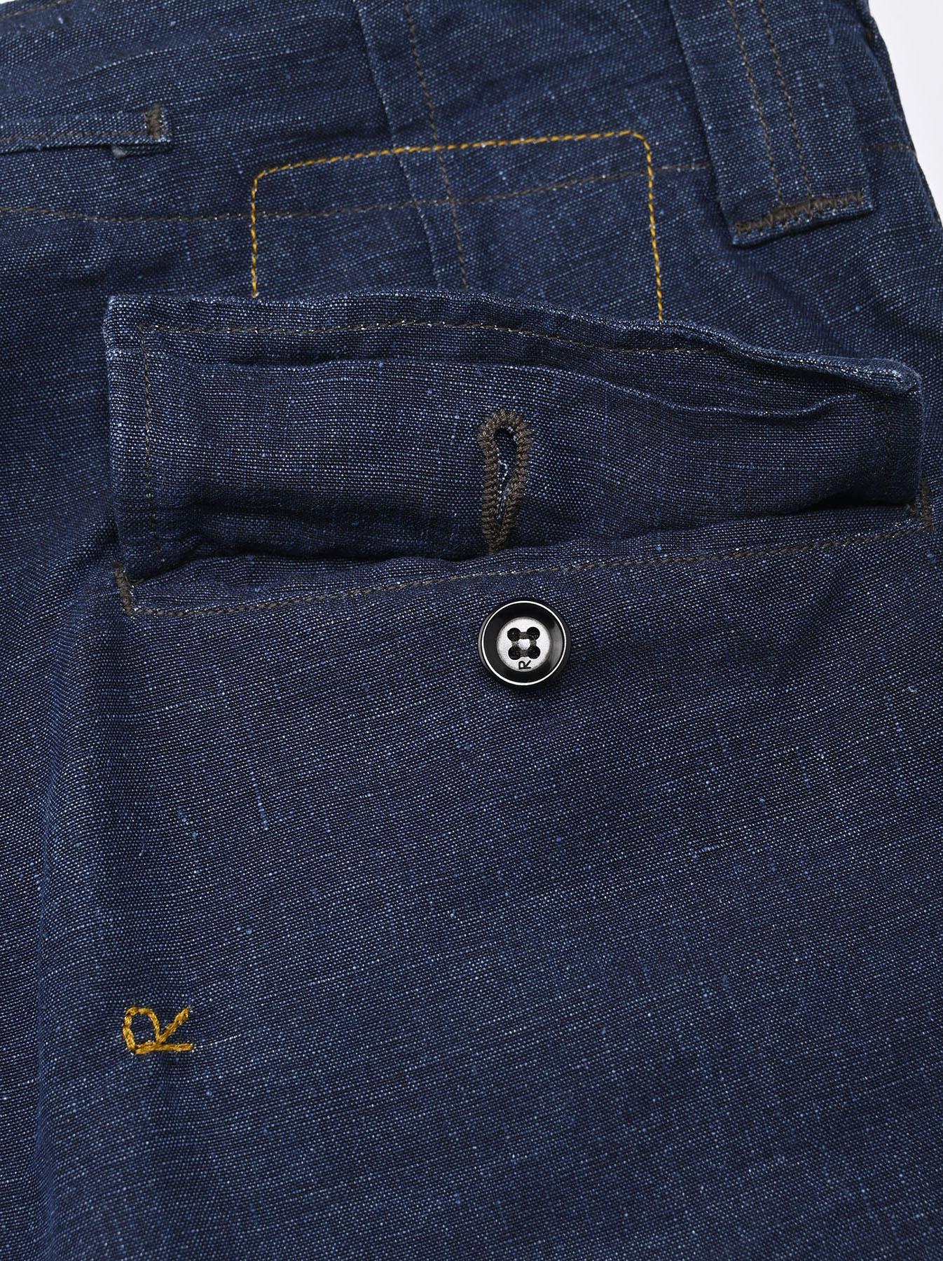 Indigo Nou Linen 908 Easy Sail Shorts (0721)-8
