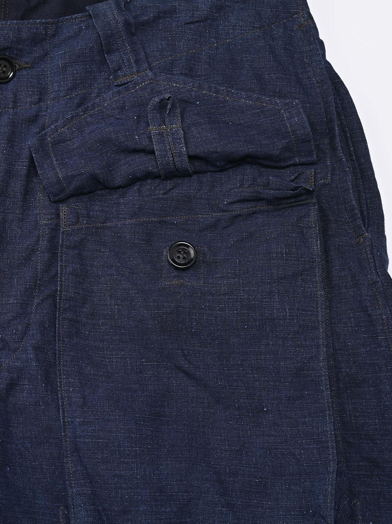 Indigo Nou Linen 908 Easy Sail Shorts (0721)-10