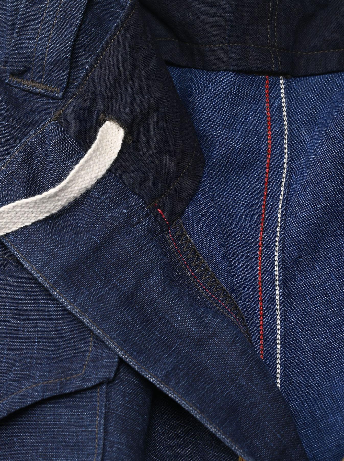 Indigo Nou Linen 908 Easy Sail Shorts (0721)-7