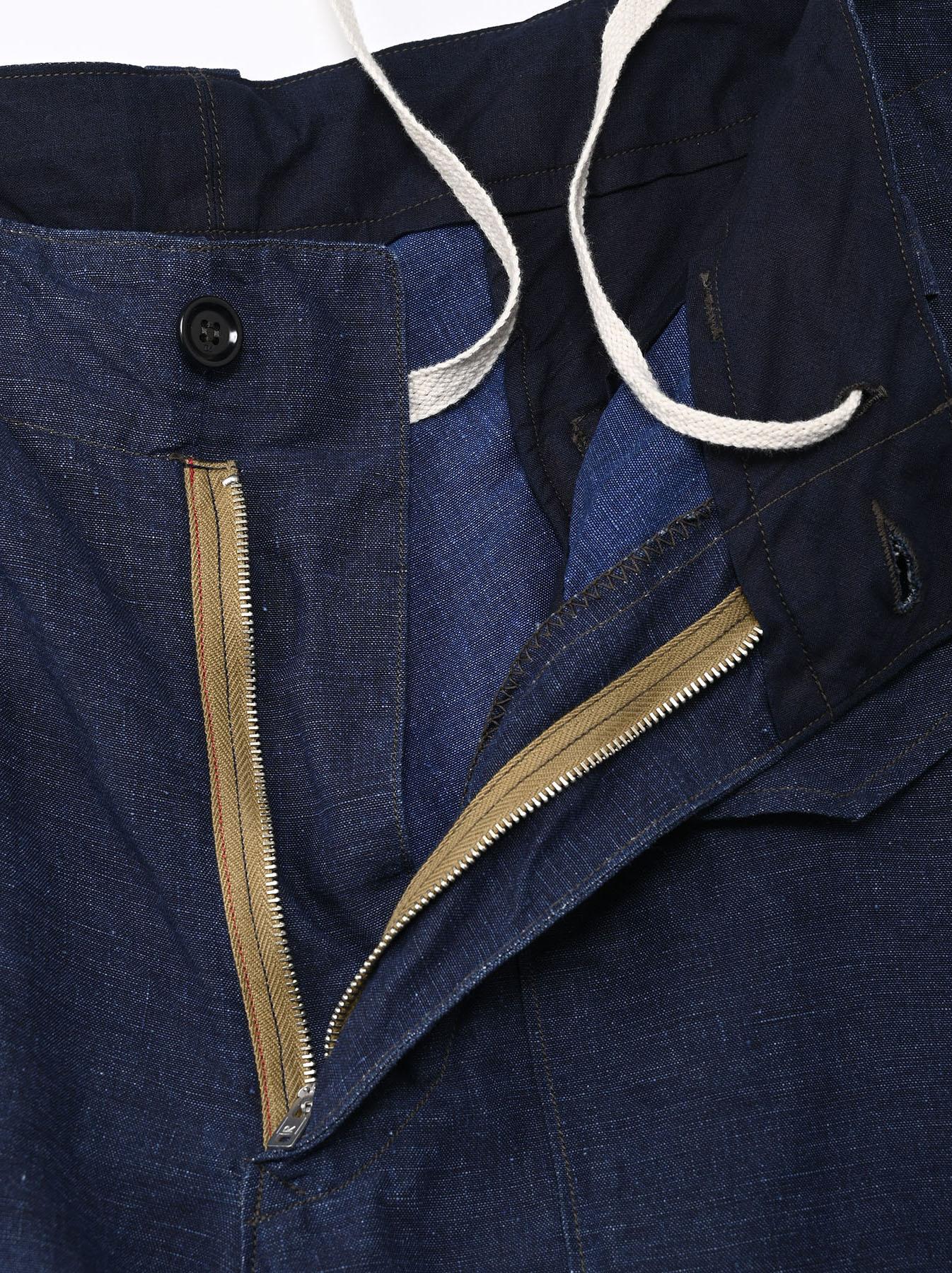 Indigo Nou Linen 908 Easy Sail Shorts (0721)-6