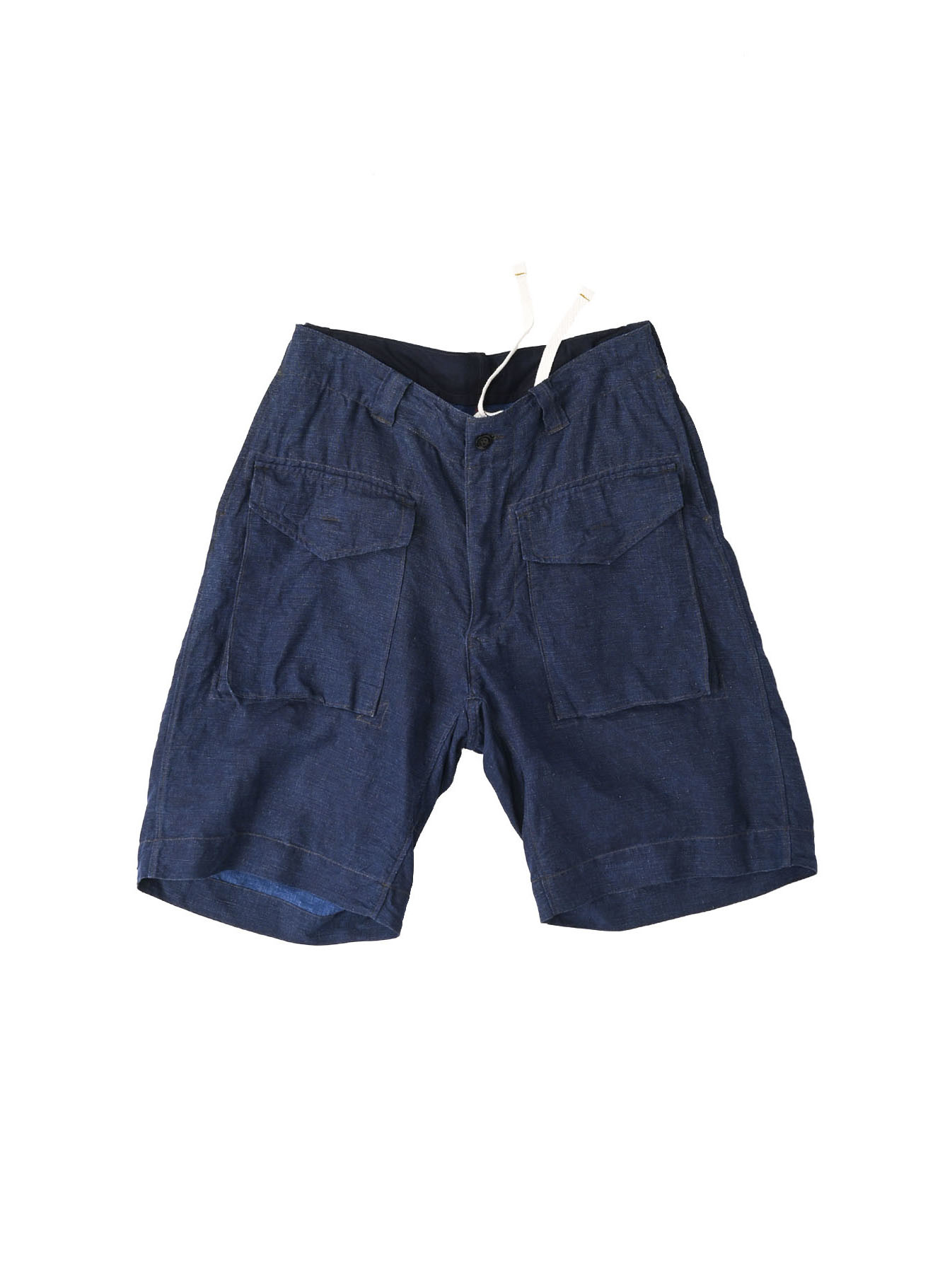 Indigo Nou Linen 908 Easy Sail Shorts (0721)-1