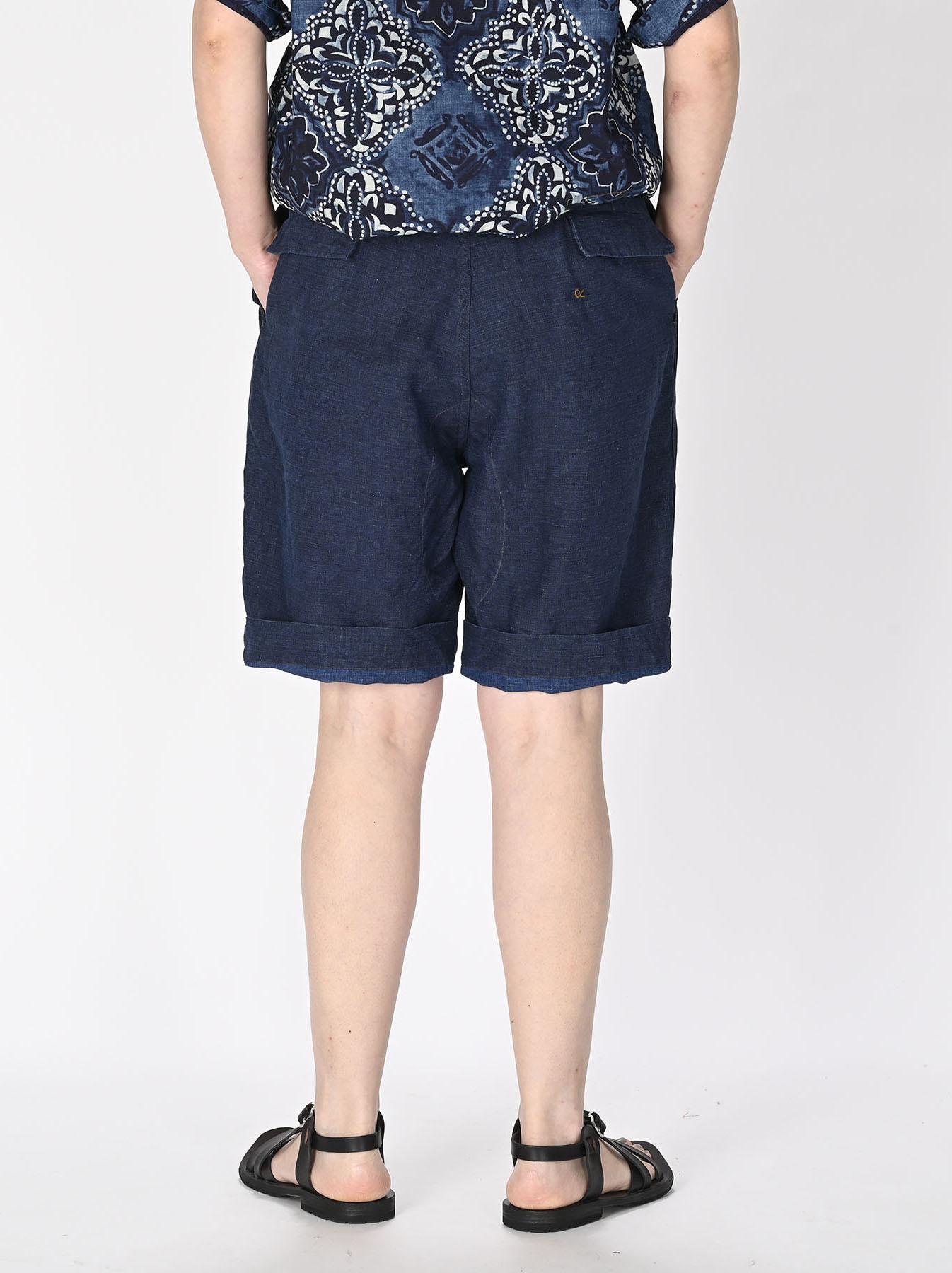 Indigo Nou Linen 908 Easy Sail Shorts (0721)-5