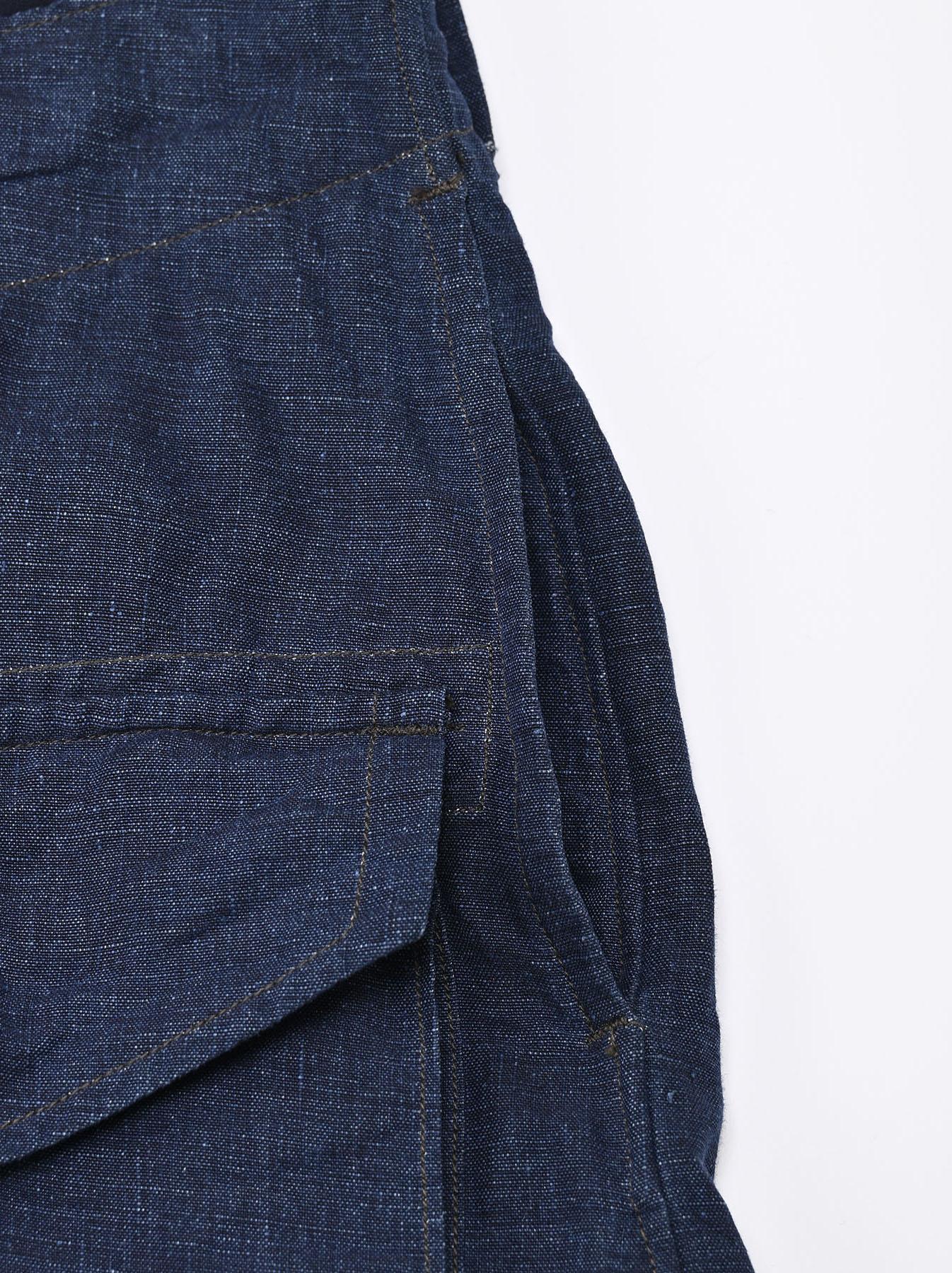 Indigo Nou Linen 908 Easy Sail Shorts (0721)-9