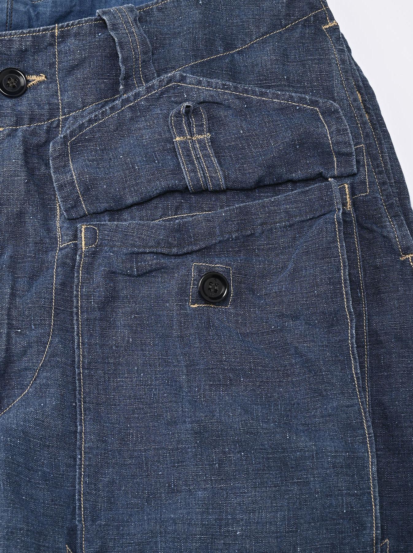 Indigo Linen 908 Easy Sail Shorts Distressed (0721)-9