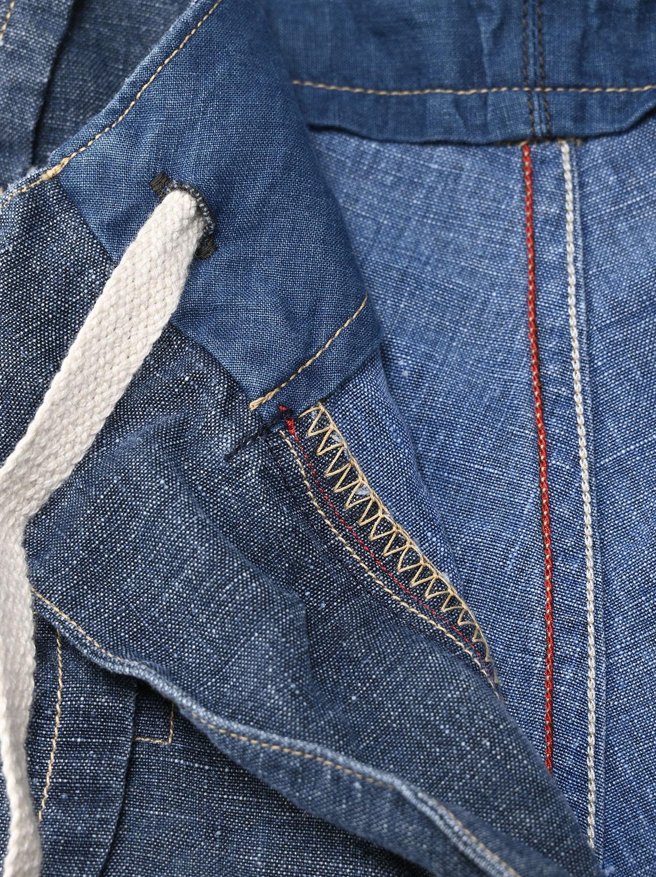 Indigo Linen 908 Easy Sail Shorts Distressed (0721)-7