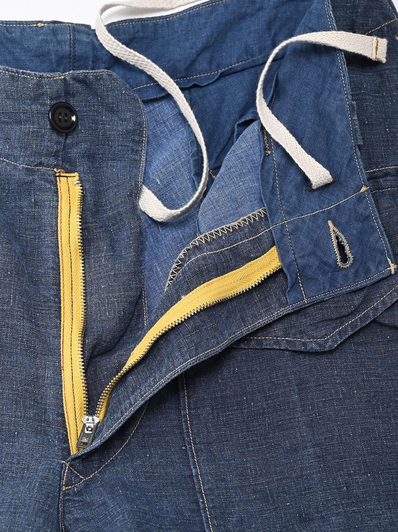 Indigo Linen 908 Easy Sail Shorts Distressed (0721)-6