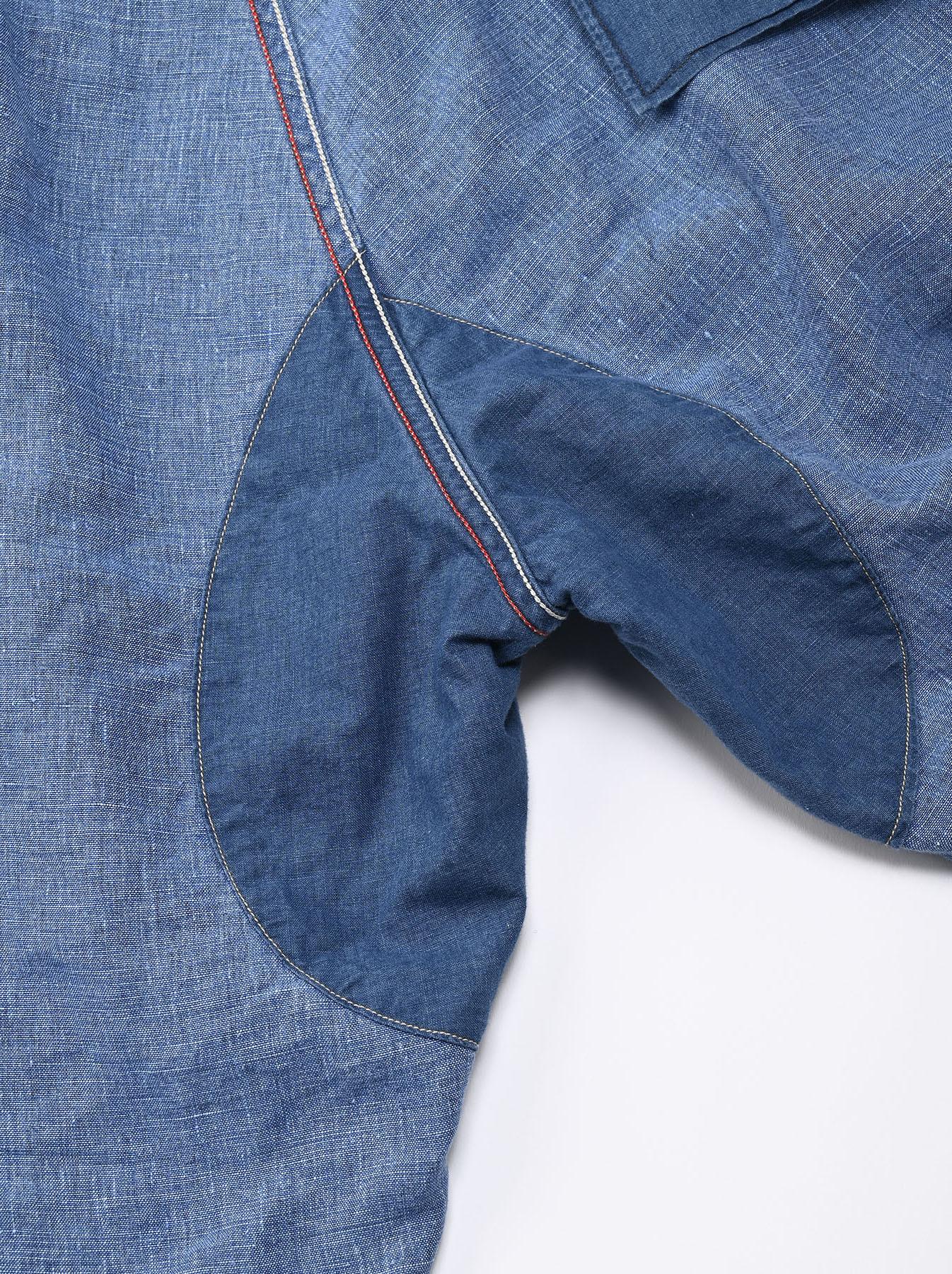 Indigo Linen 908 Easy Sail Shorts Distressed (0721)-12