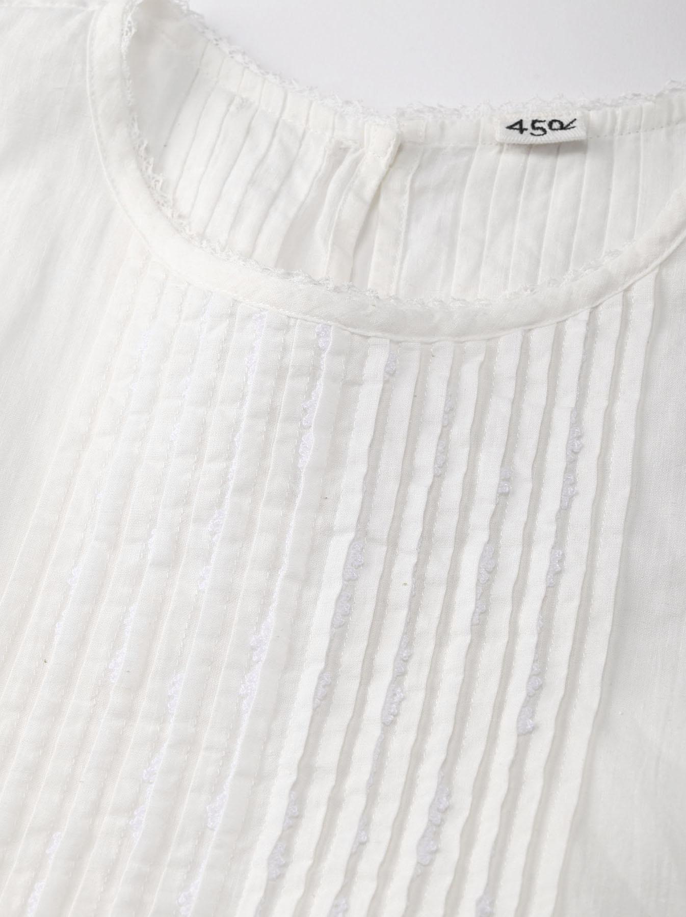 Khadi Lace de T-shirt (0721)-5