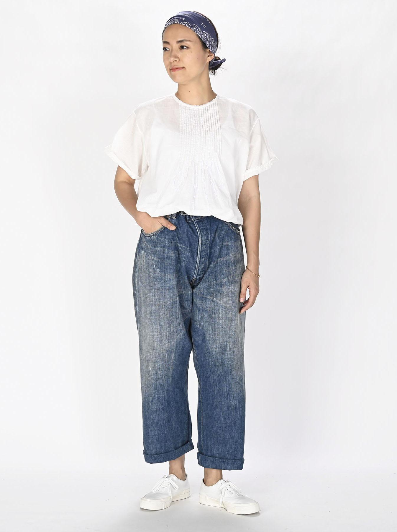 Khadi Lace de T-shirt (0721)-12