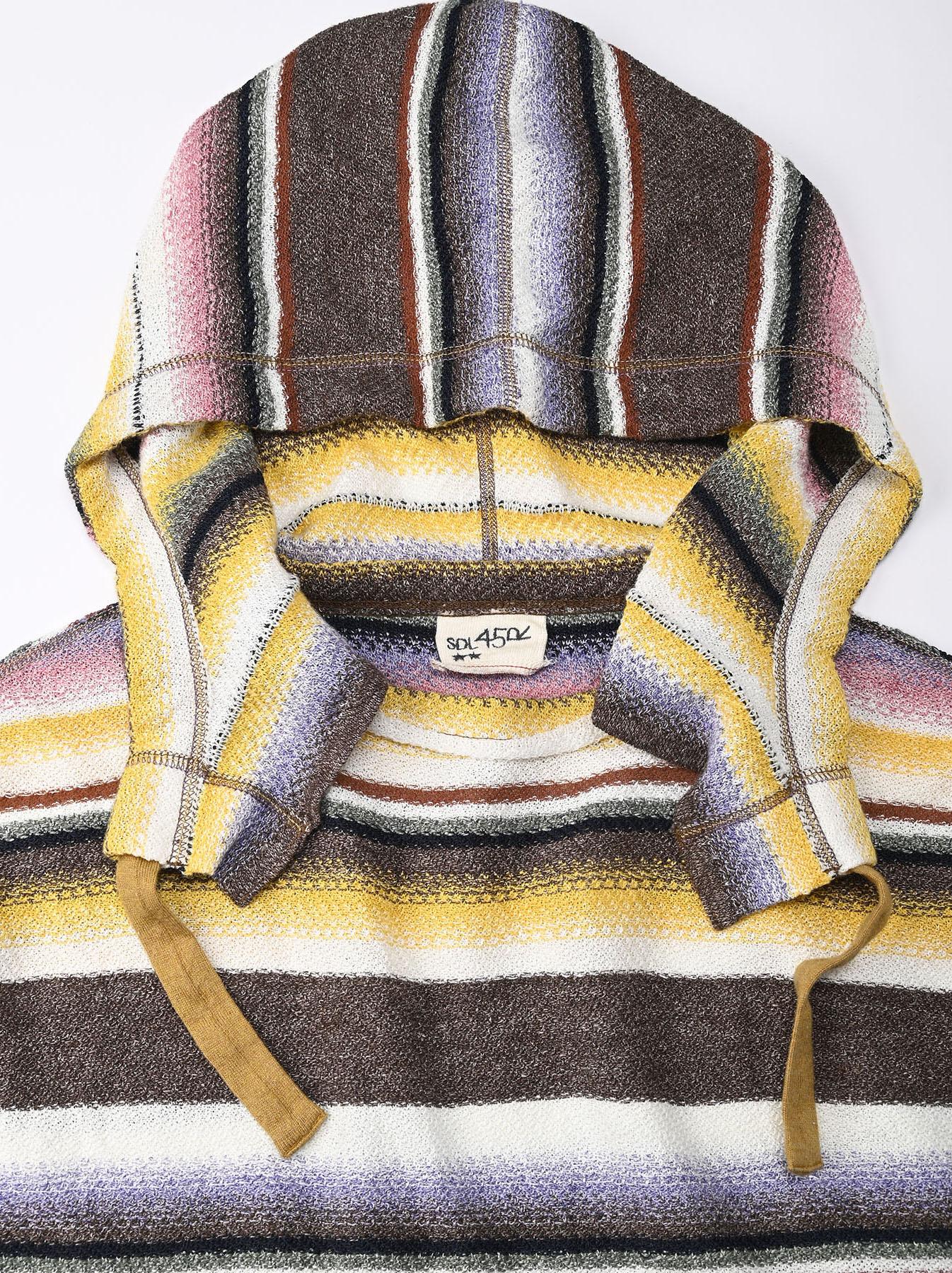 Rainbow Stripe Knit-sew 908 Umahiko Hoodie(0721)-8