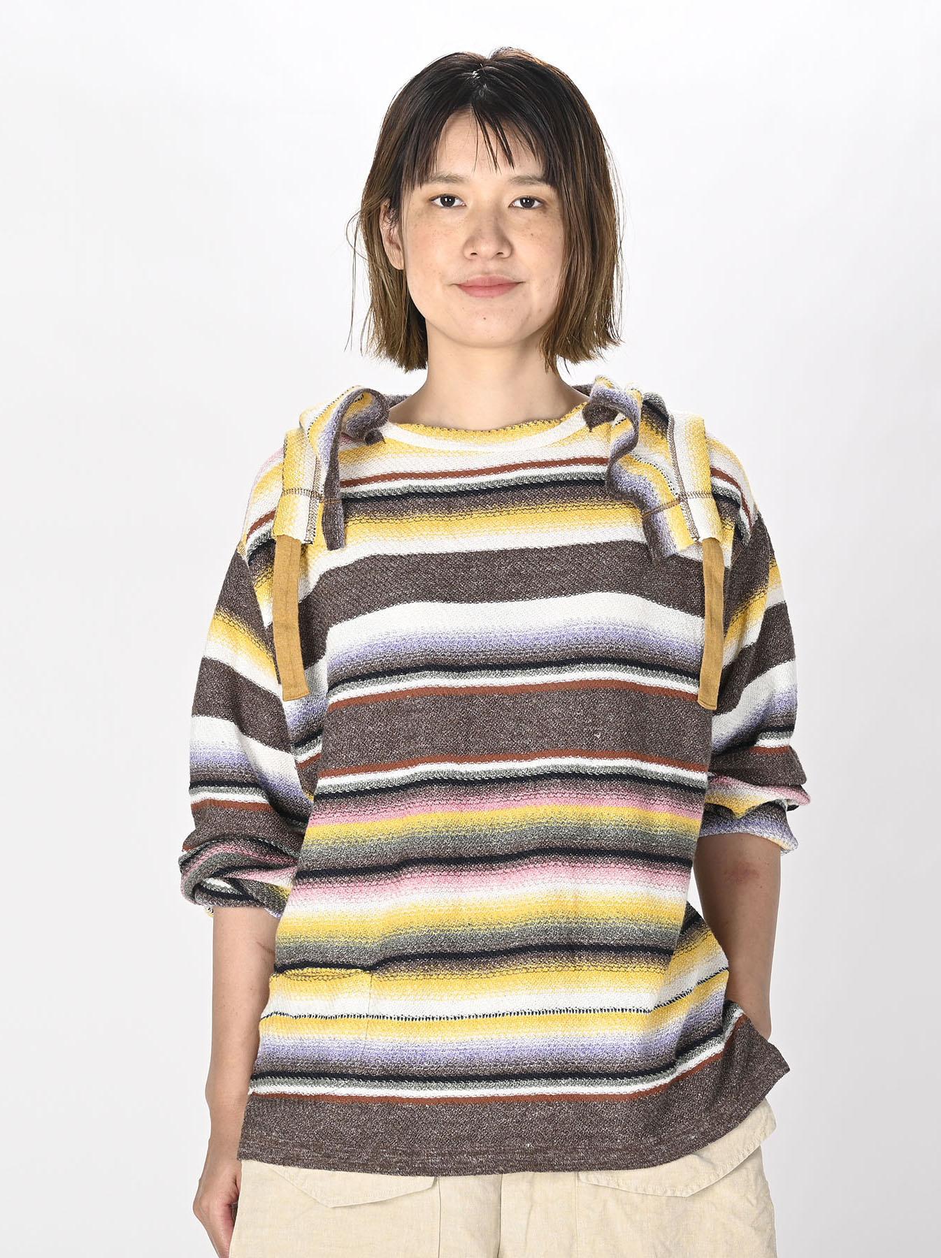 Rainbow Stripe Knit-sew 908 Umahiko Hoodie(0721)-2