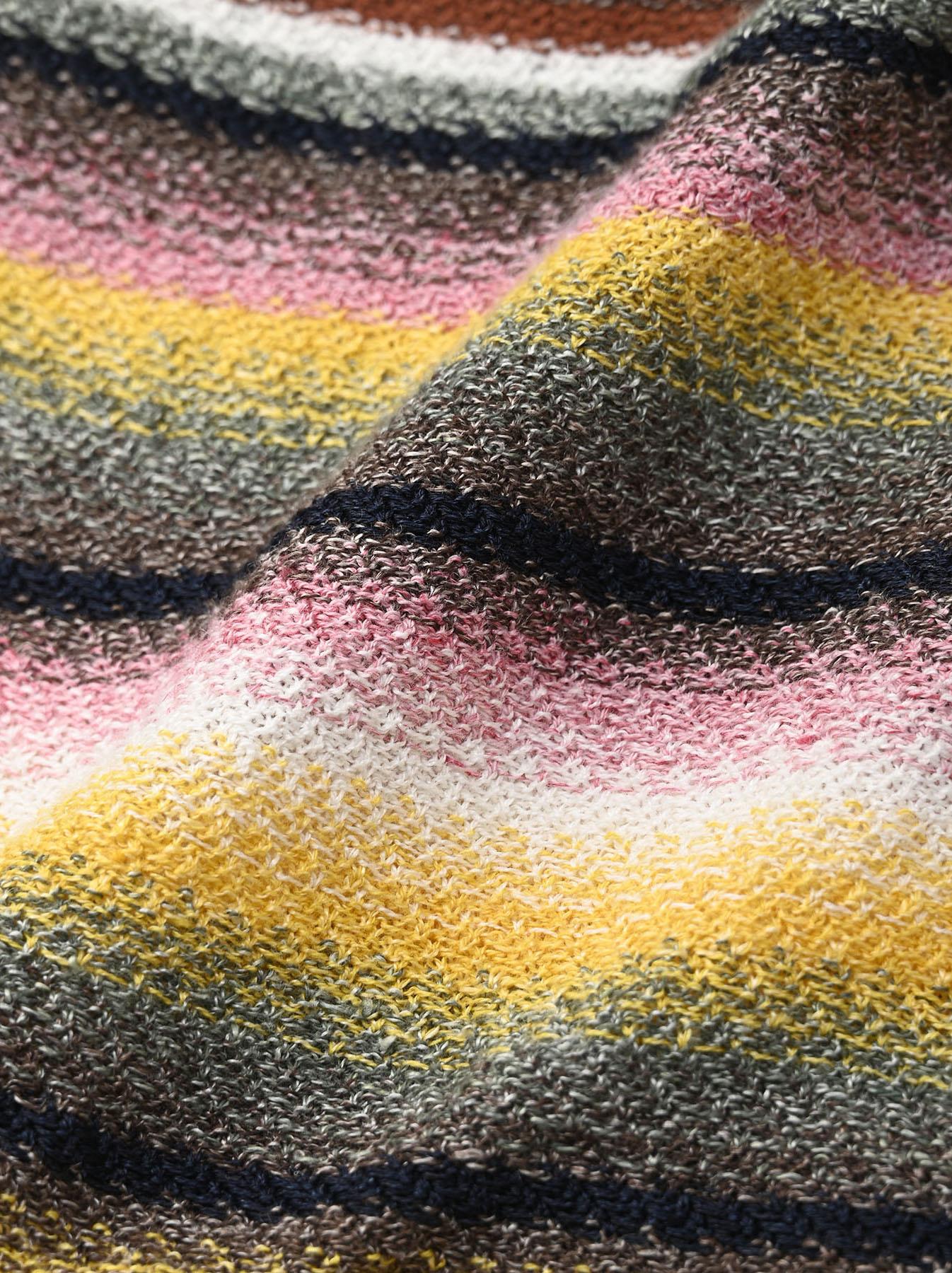 Rainbow Stripe Knit-sew 908 Umahiko Hoodie(0721)-12