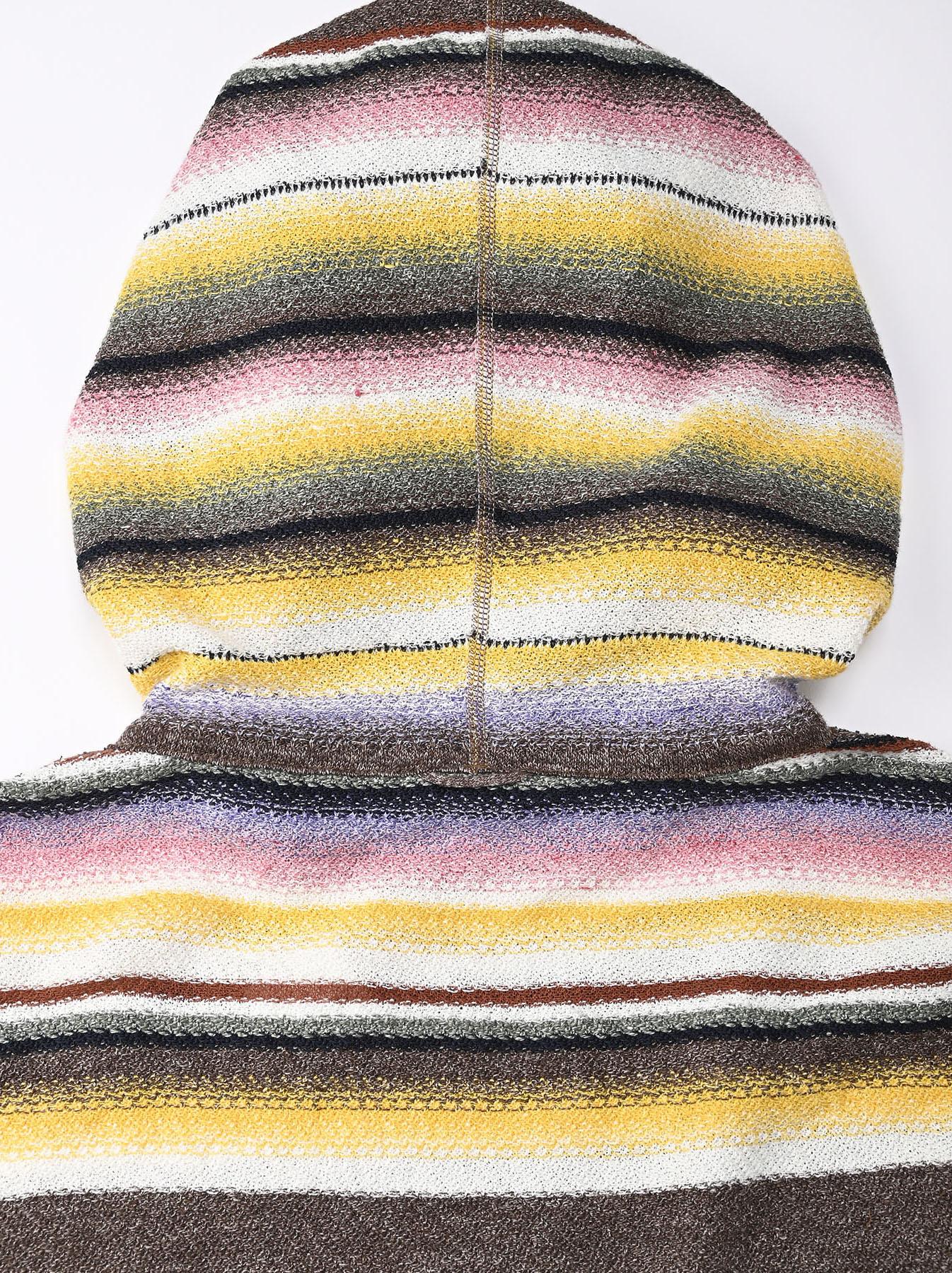 Rainbow Stripe Knit-sew 908 Umahiko Hoodie(0721)-11