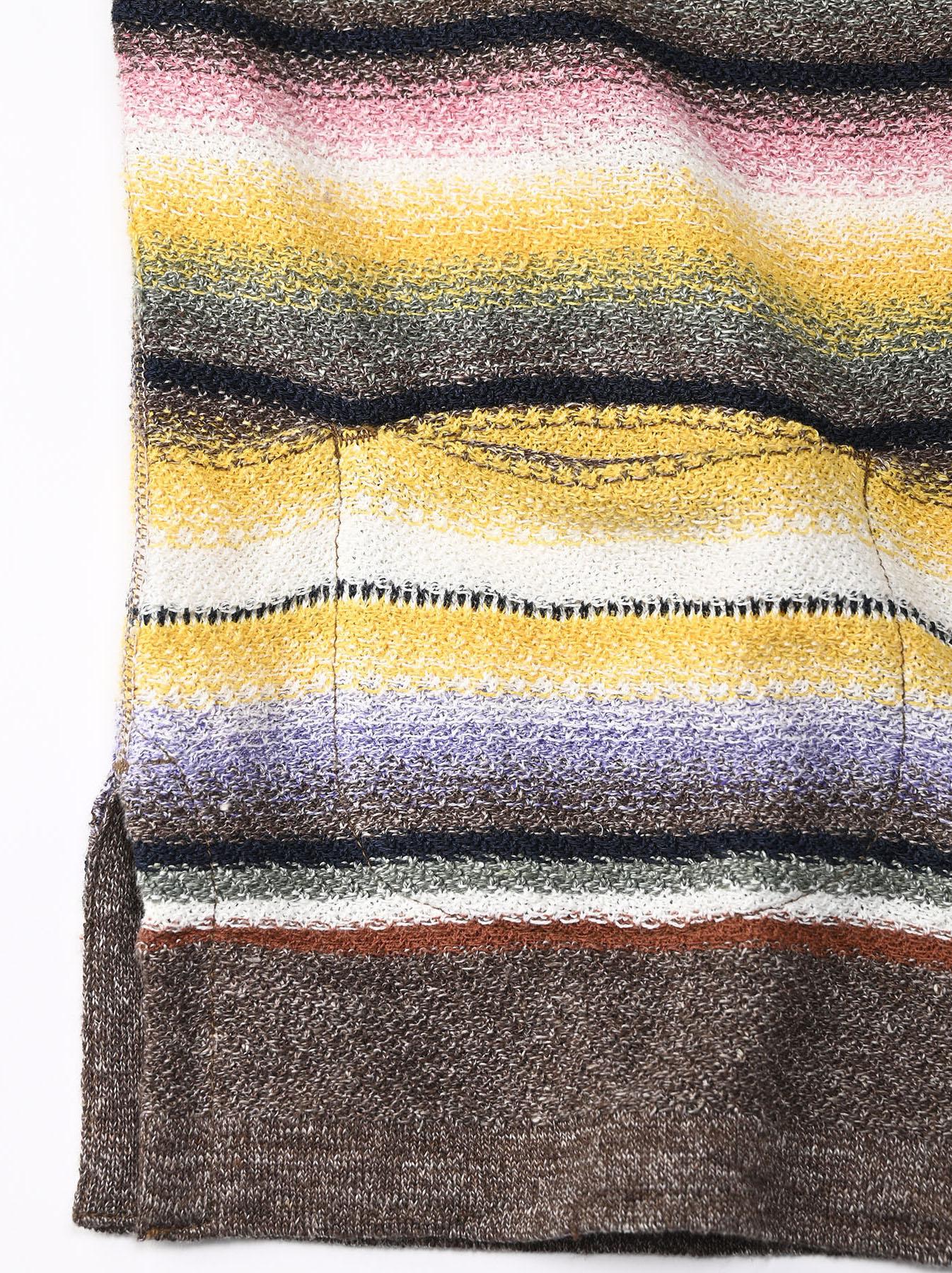 Rainbow Stripe Knit-sew 908 Umahiko Hoodie(0721)-9