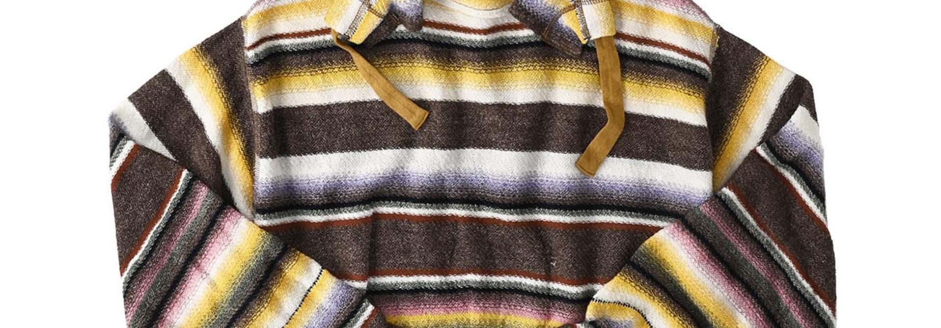 Rainbow Stripe Knit-sew 908 Umahiko Hoodie(0721)