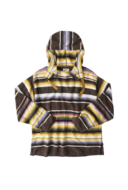 Rainbow Stripe Knit-sew 908 Umahiko Hoodie