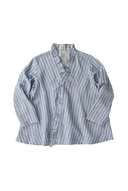 Indian Linen Twill Cache-coeur Blouse