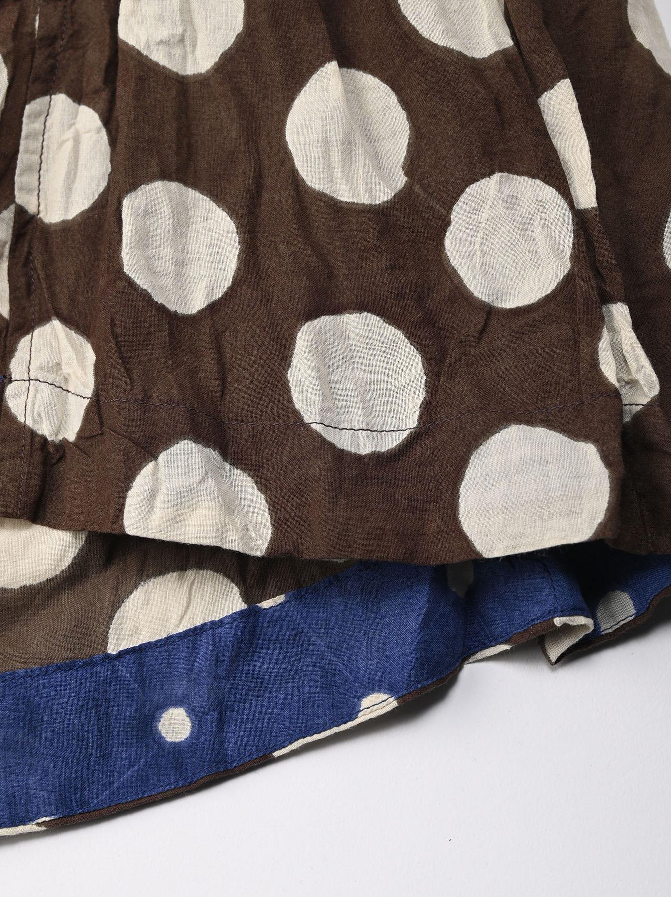 Khadi Dots Mix Block Printed Dress (0721)-7