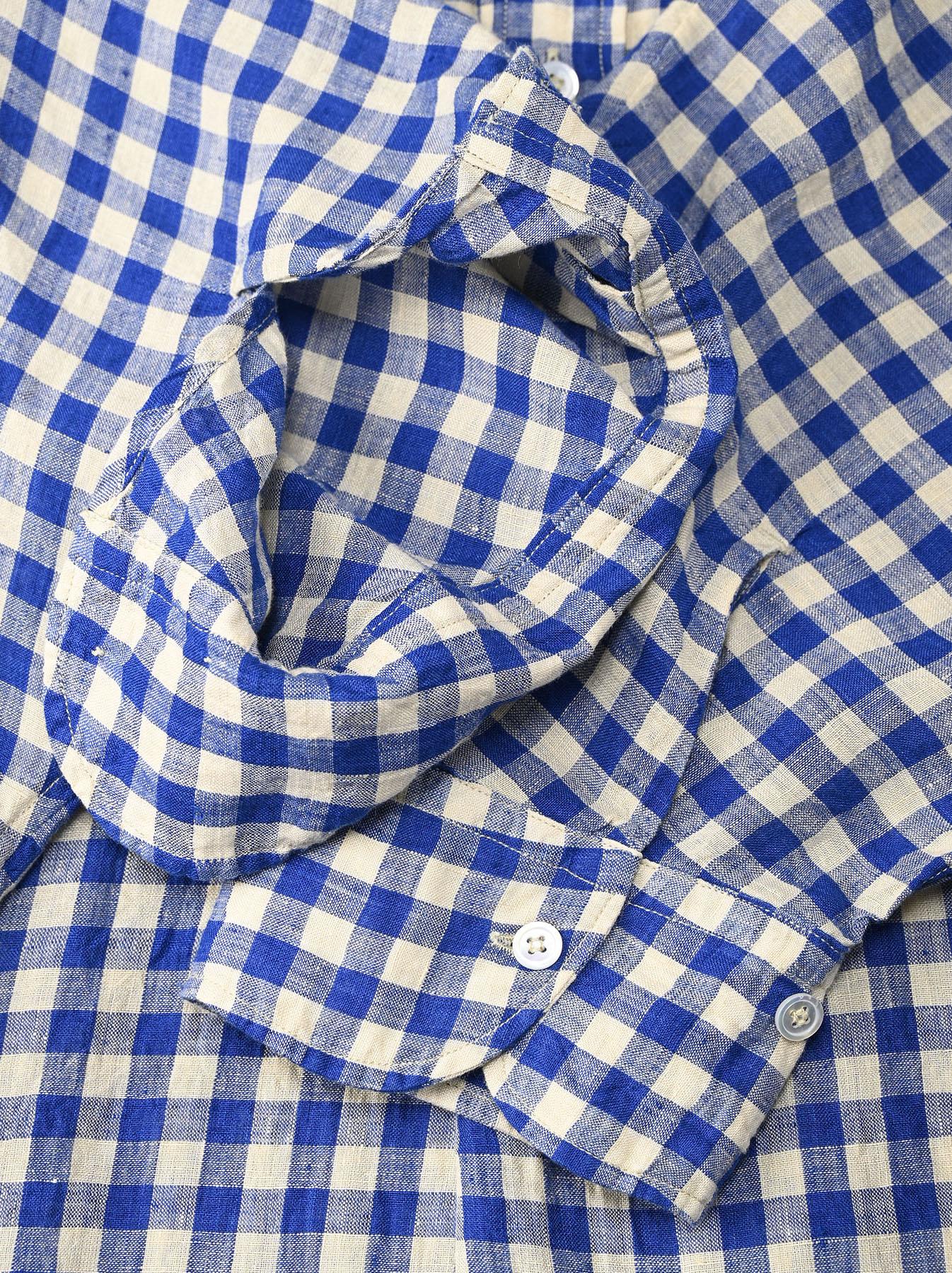 Indian Gauze Linen Big Shirt Dress-9