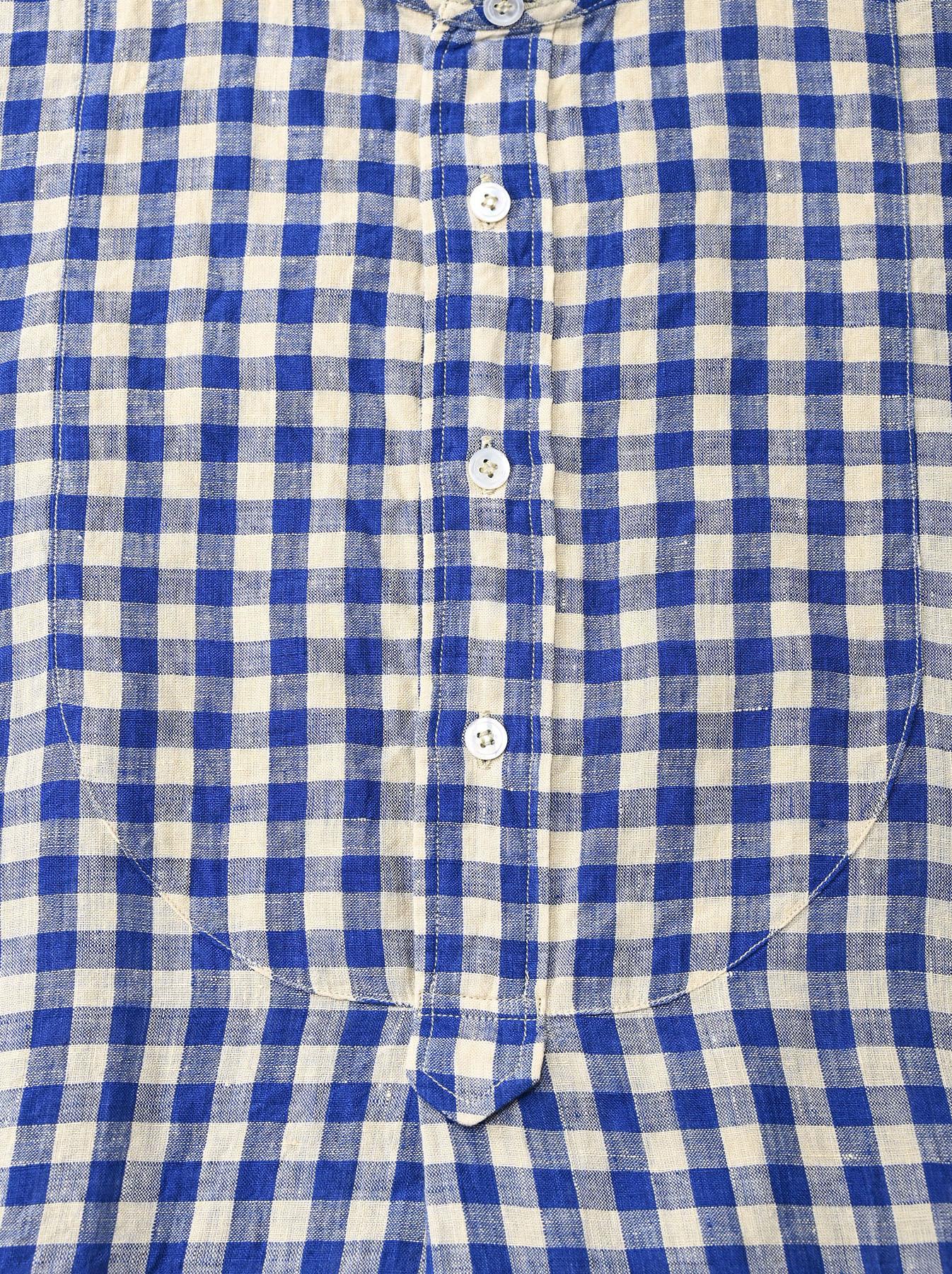 Indian Gauze Linen Big Shirt Dress-7