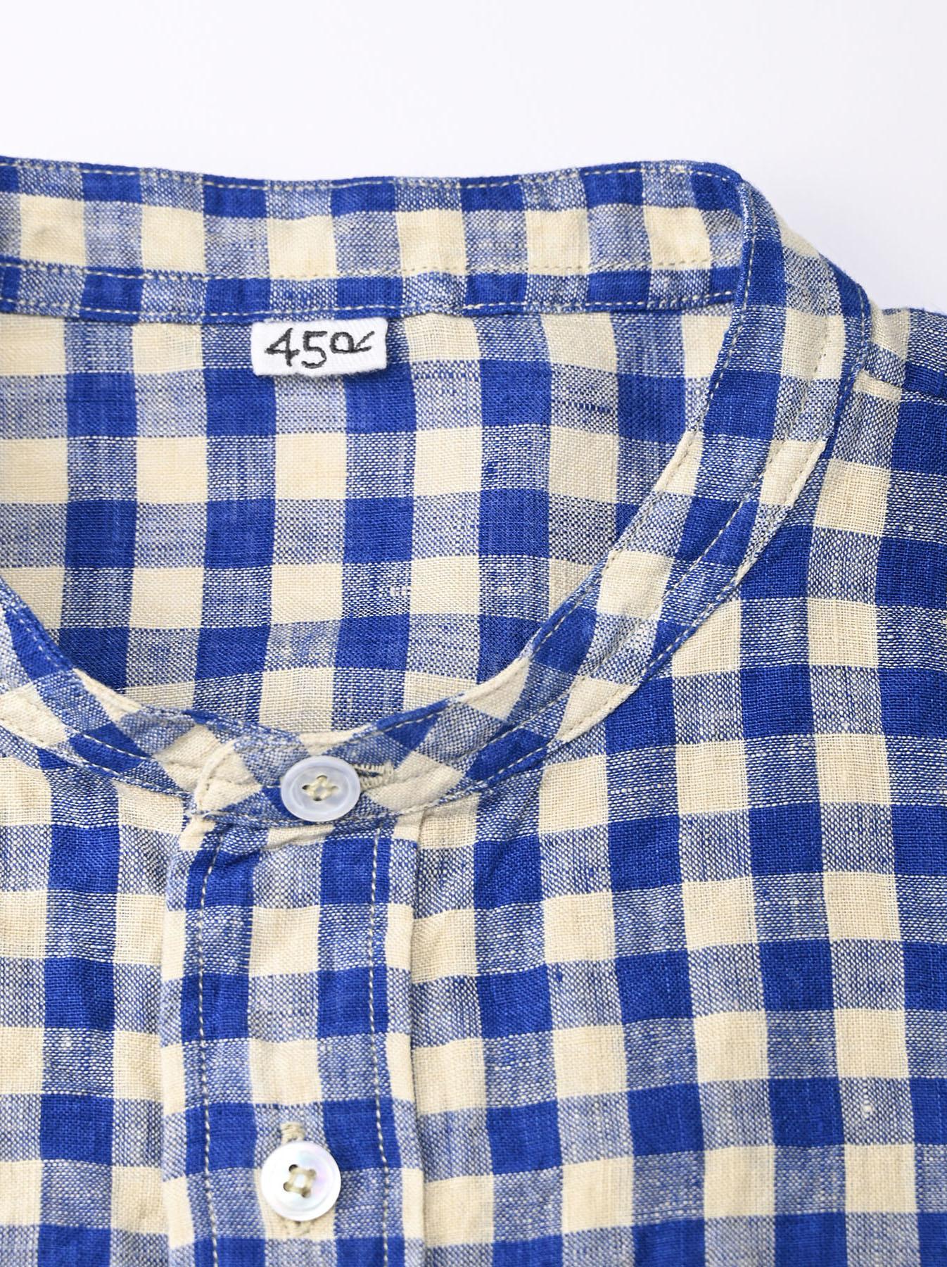 Indian Gauze Linen Big Shirt Dress-6