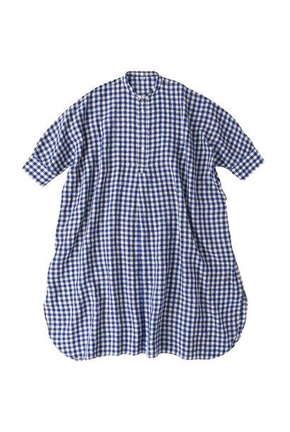 Indian Gauze Linen Big Shirt Dress