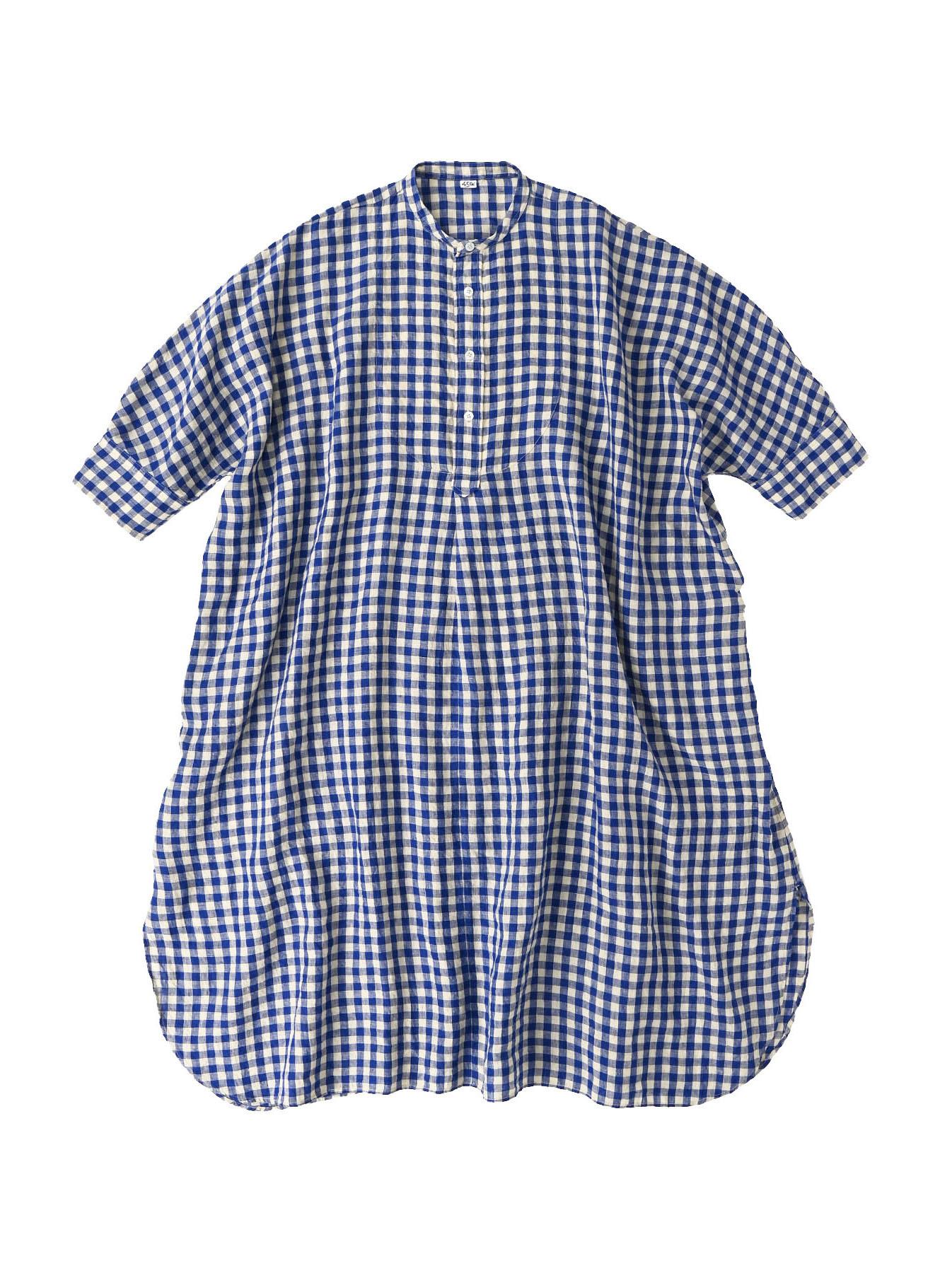 Indian Gauze Linen Big Shirt Dress-2