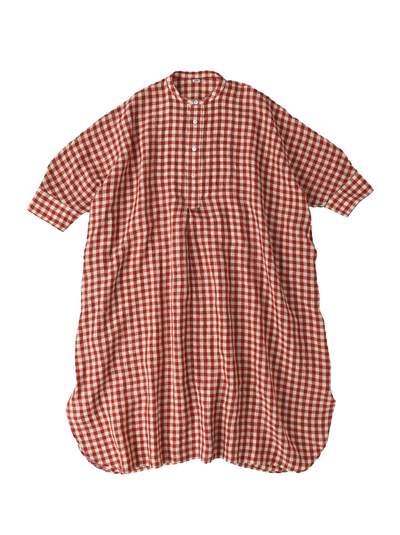 Indian Gauze Linen Big Shirt Dress-1