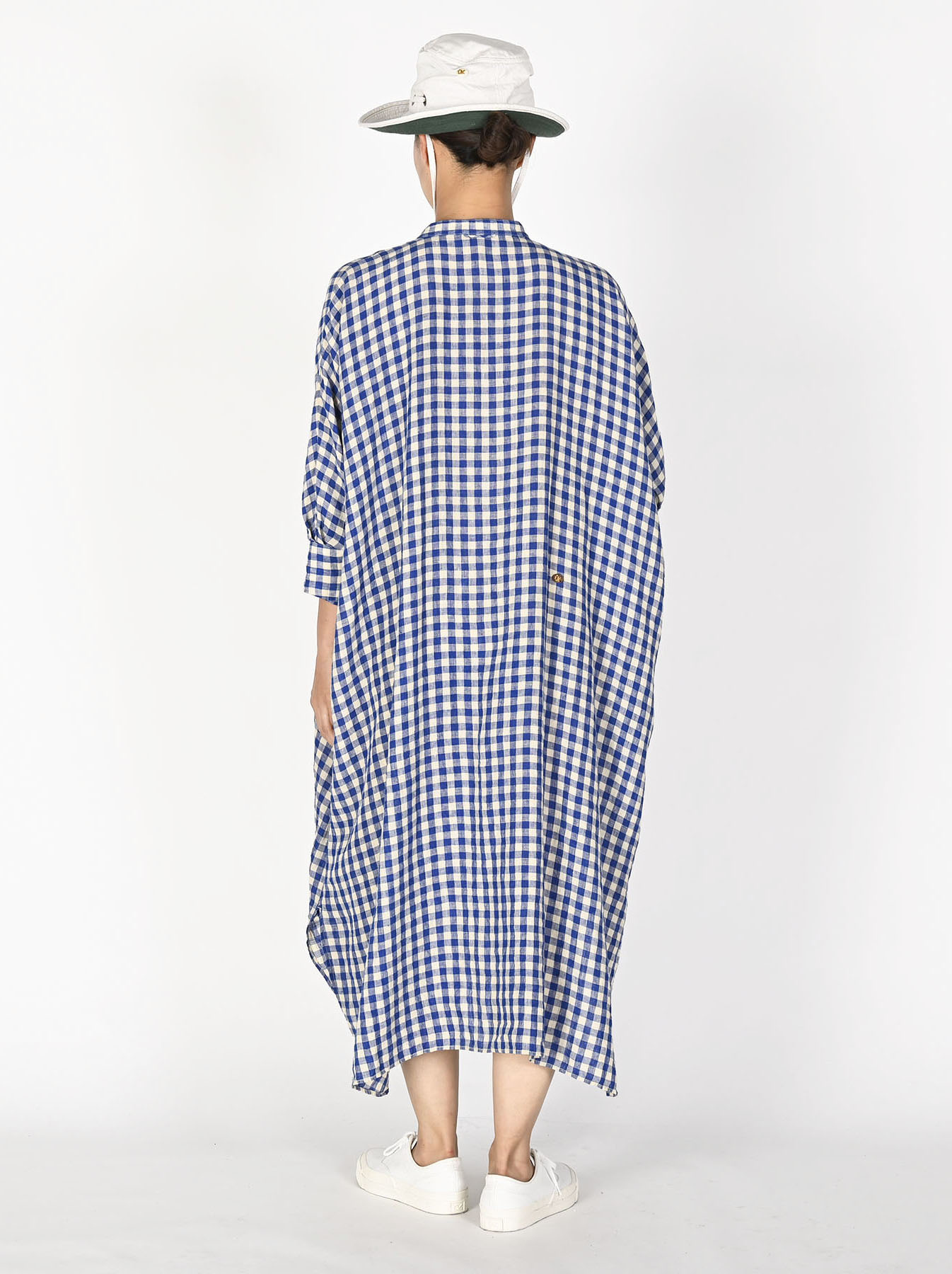 Indian Gauze Linen Big Shirt Dress-5