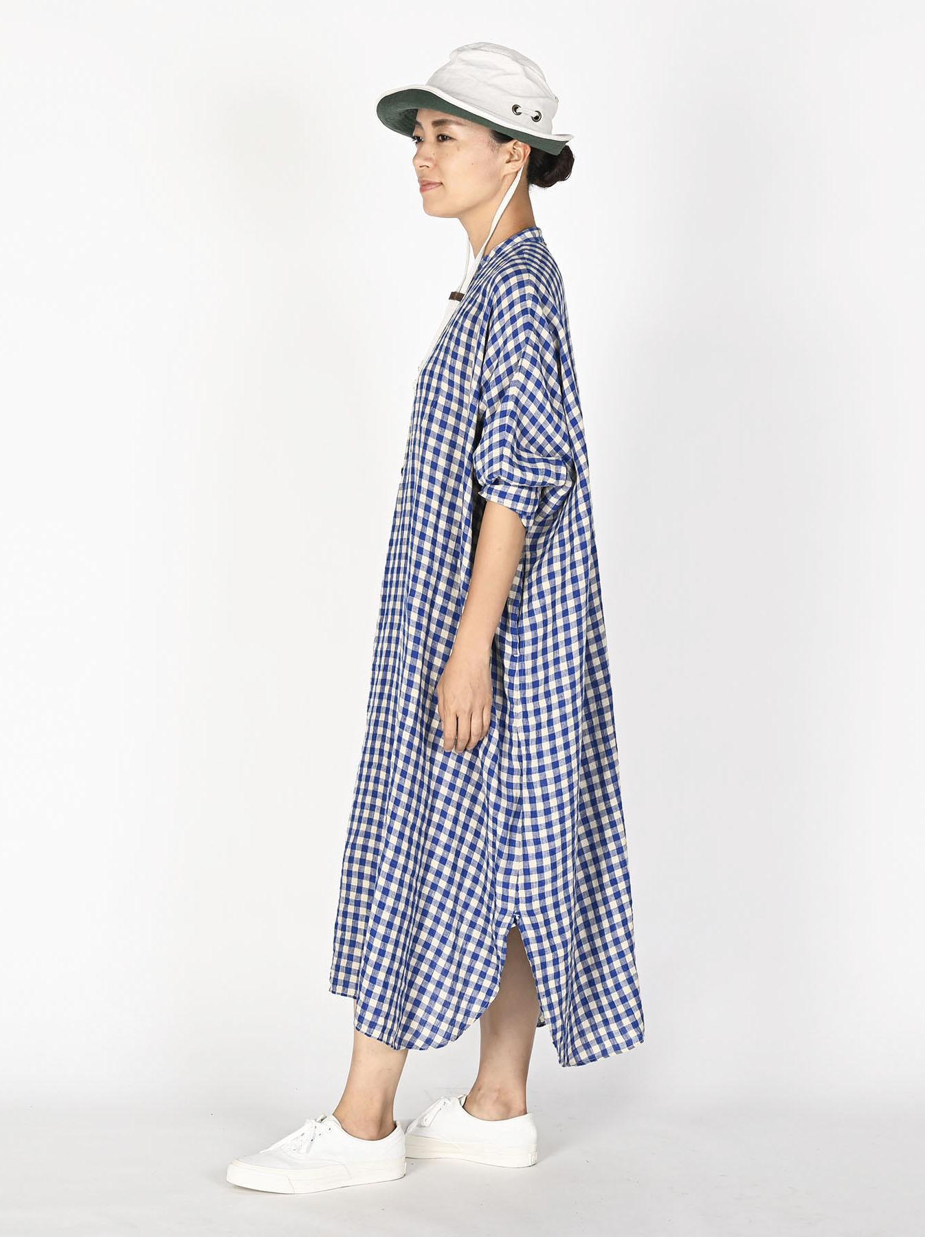 Indian Gauze Linen Big Shirt Dress-4