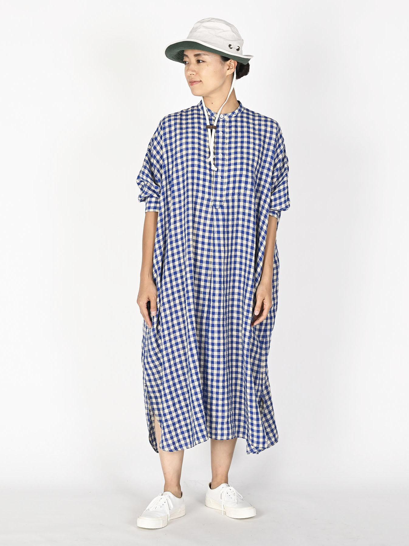 Indian Gauze Linen Big Shirt Dress-3