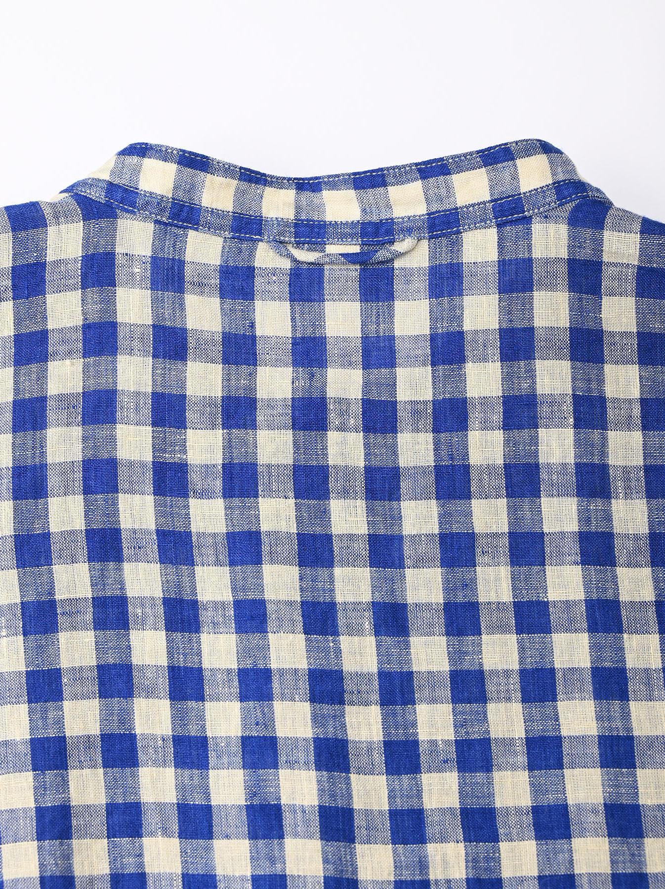 Indian Gauze Linen Big Shirt Dress-10