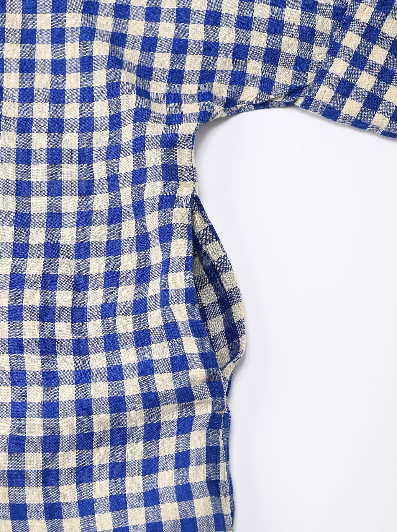 Indian Gauze Linen Big Shirt Dress-8