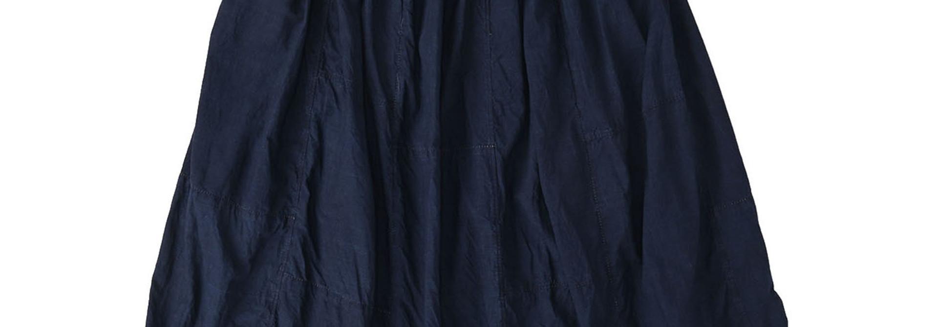 Indigo Tappet Patchwork Skirt