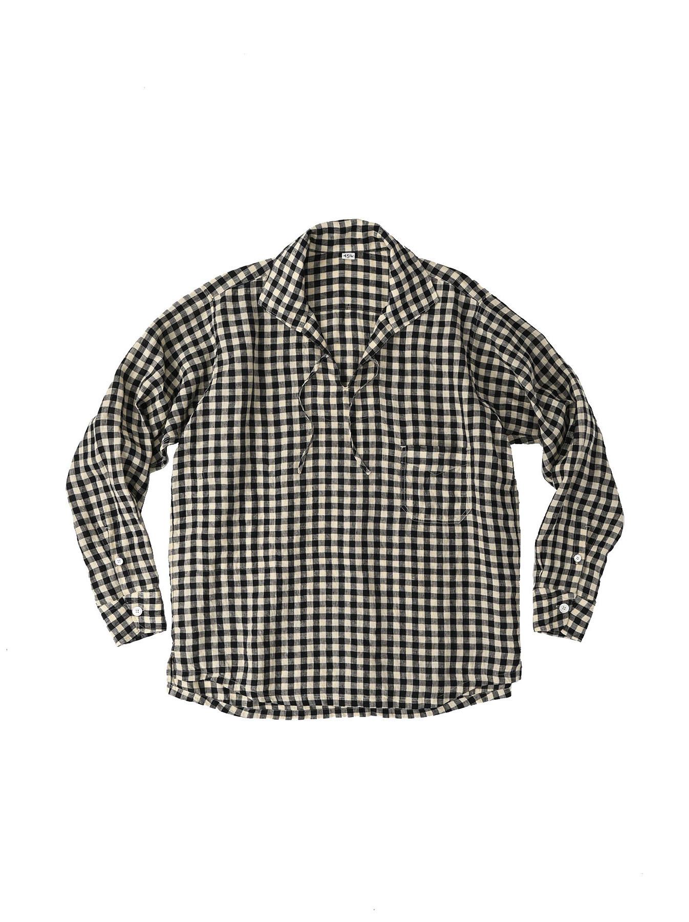 Indian Gauze Linen Capri Shirt-6