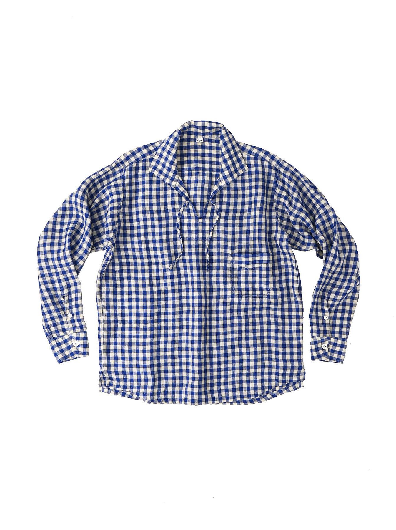 Indian Gauze Linen Capri Shirt-2