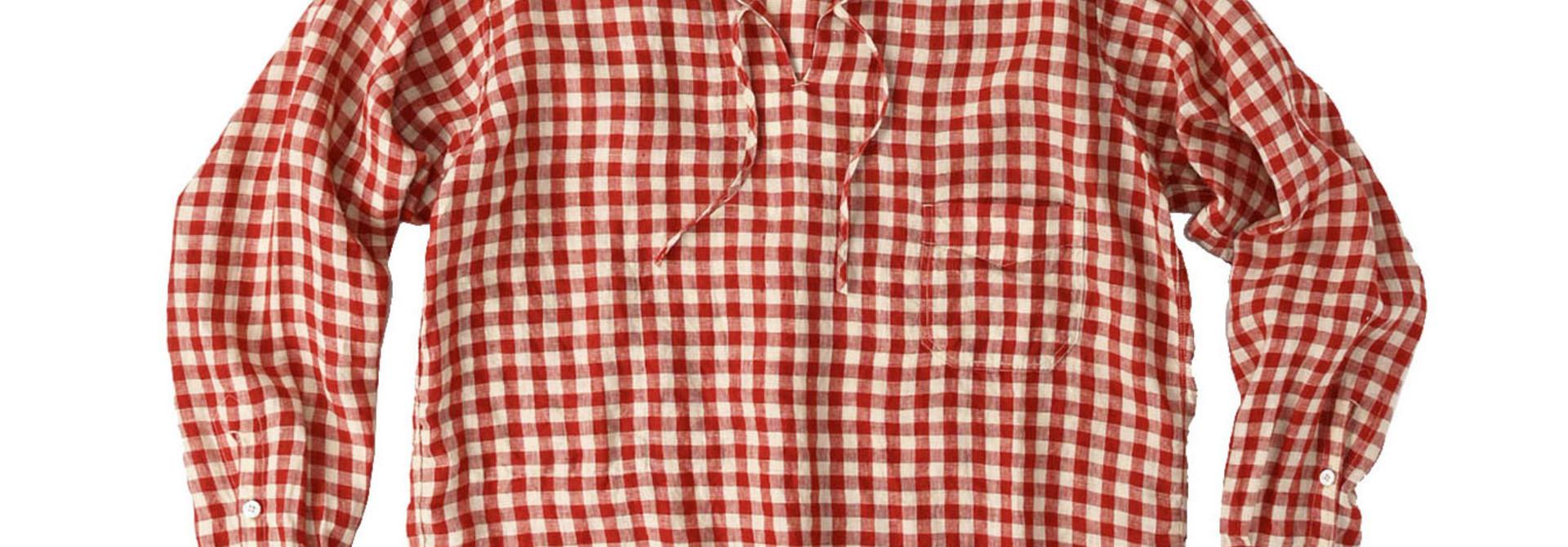 Indian Gauze Linen Capri Shirt
