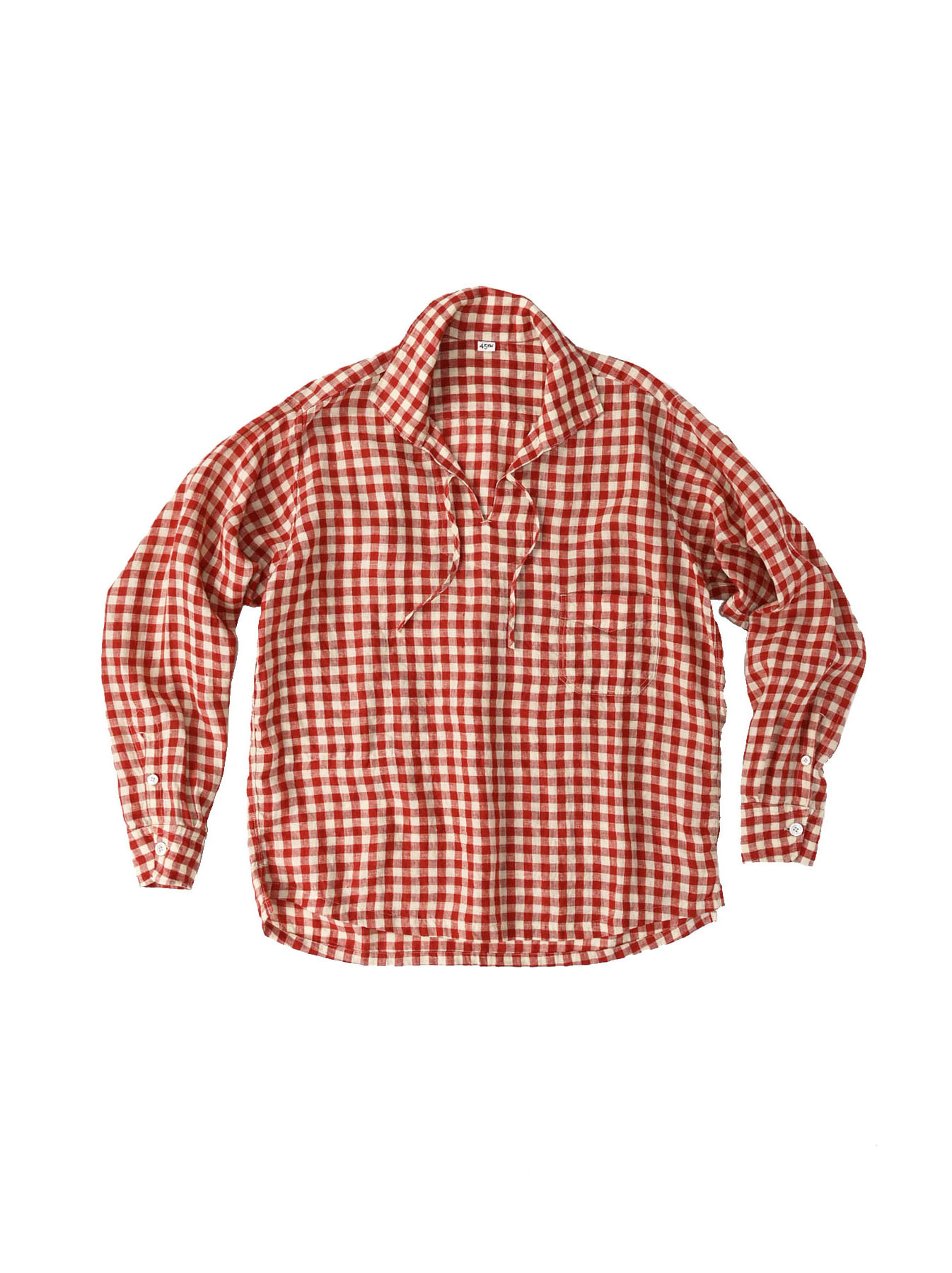 Indian Gauze Linen Capri Shirt-1