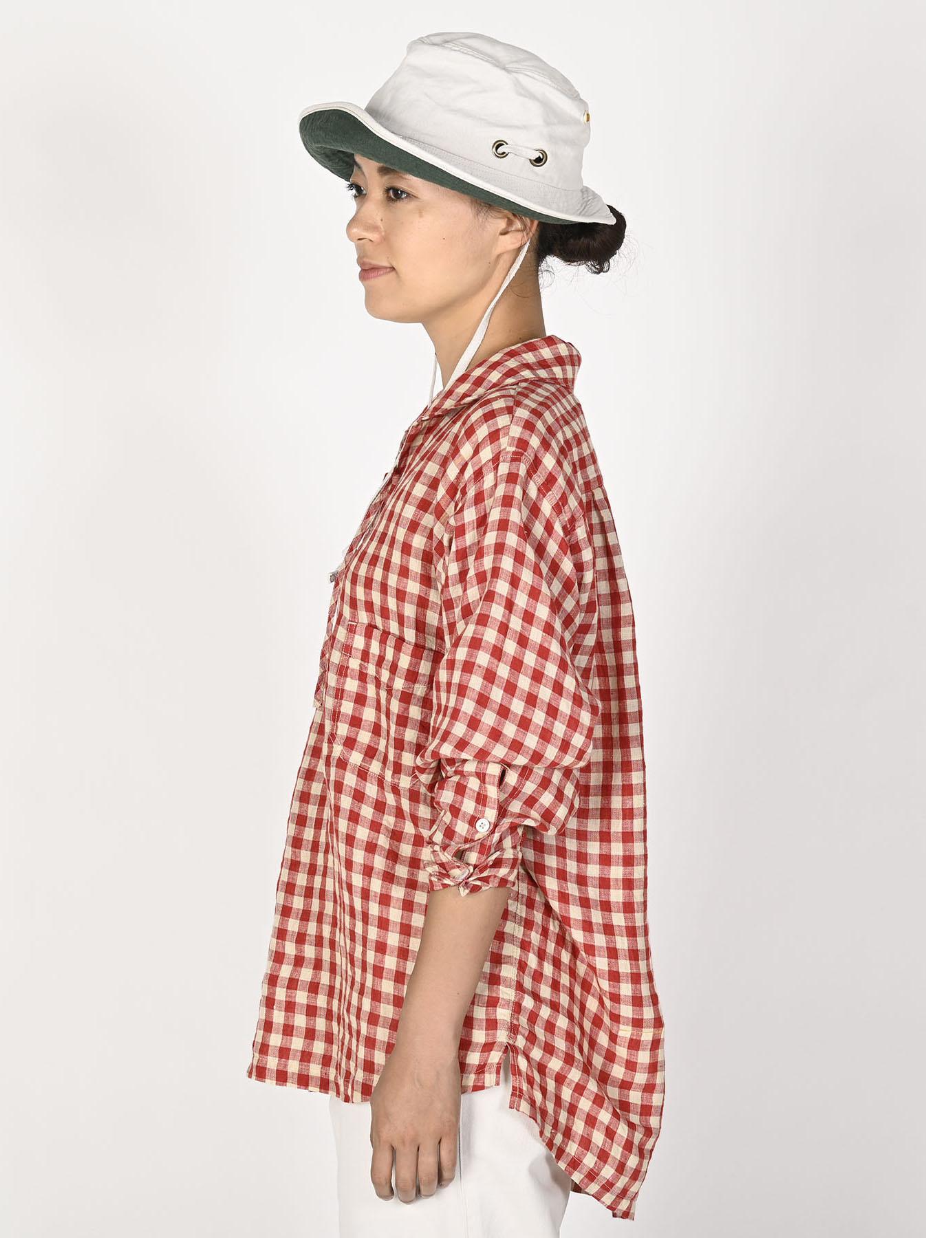 Indian Gauze Linen Capri Shirt-11