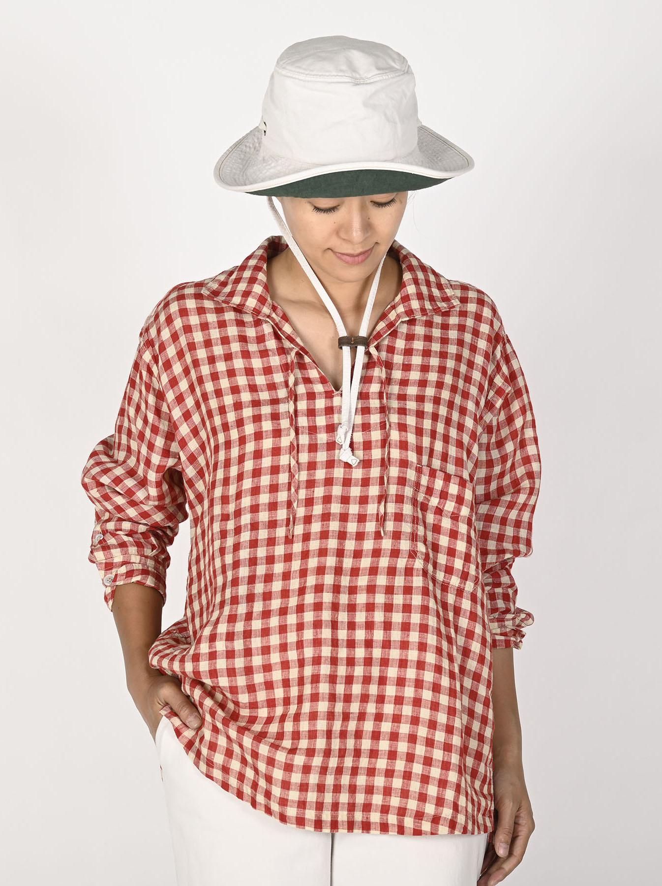 Indian Gauze Linen Capri Shirt-10