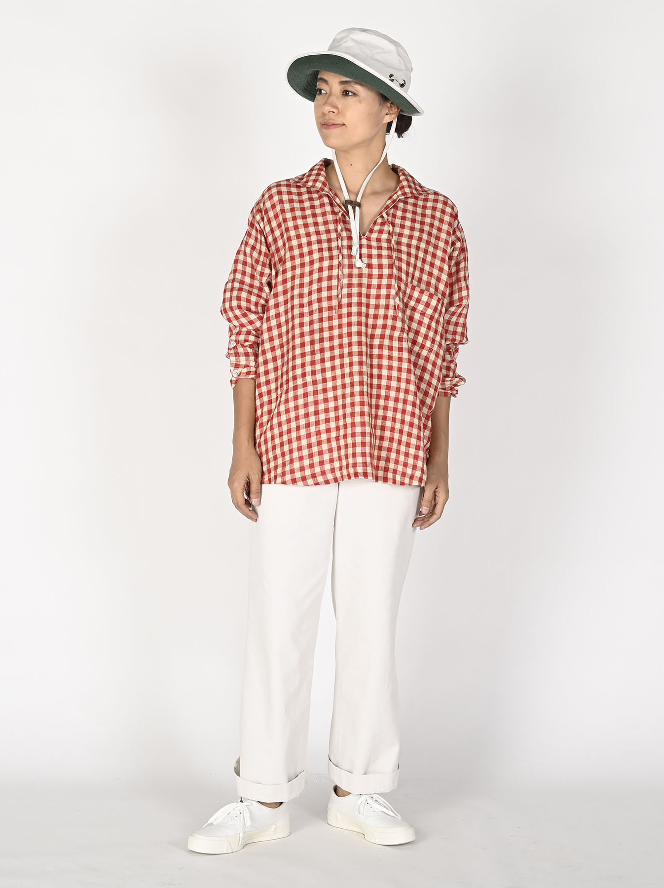 Indian Gauze Linen Capri Shirt-12