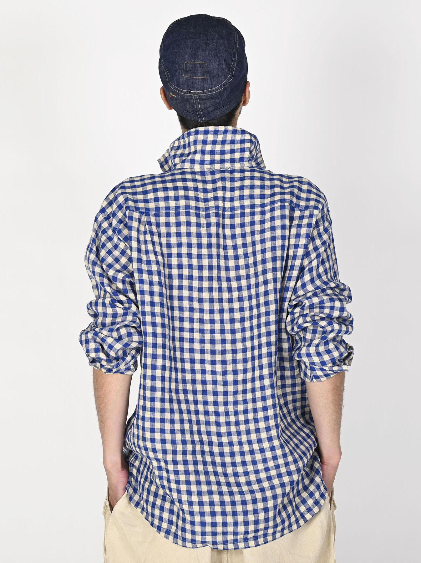 Indian Gauze Linen Capri Shirt-4