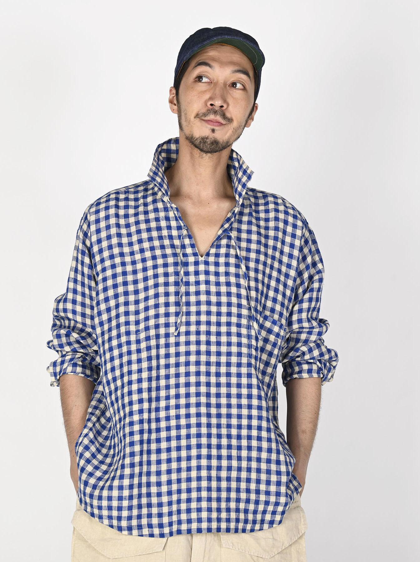 Indian Gauze Linen Capri Shirt-3