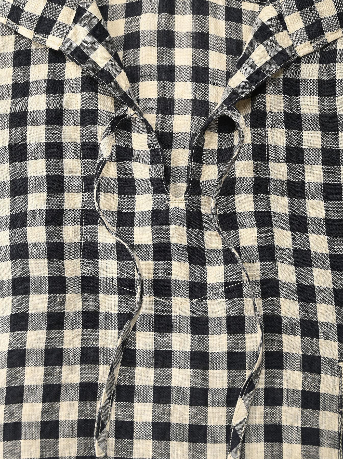 Indian Gauze Linen Capri Shirt-7