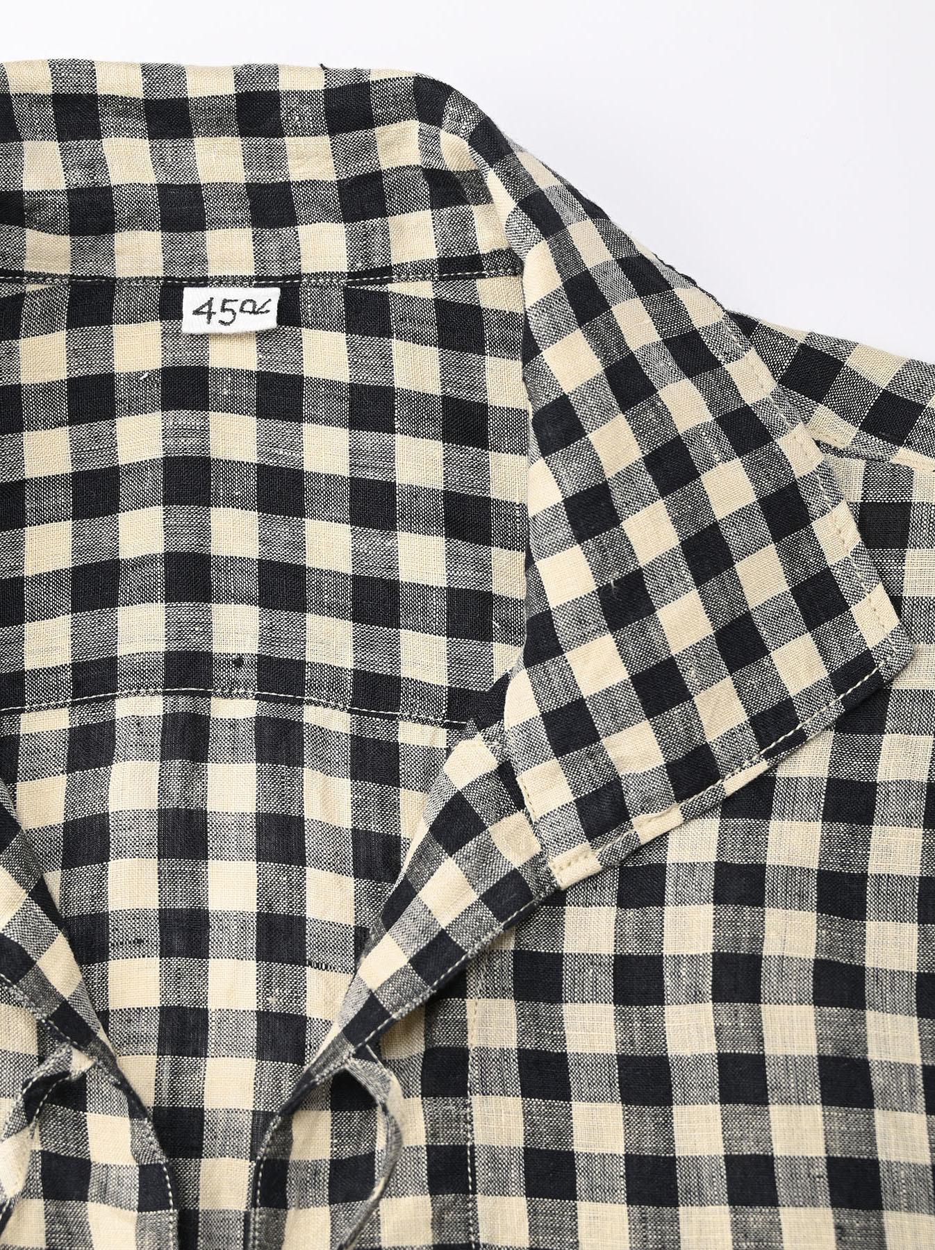 Indian Gauze Linen Capri Shirt-8