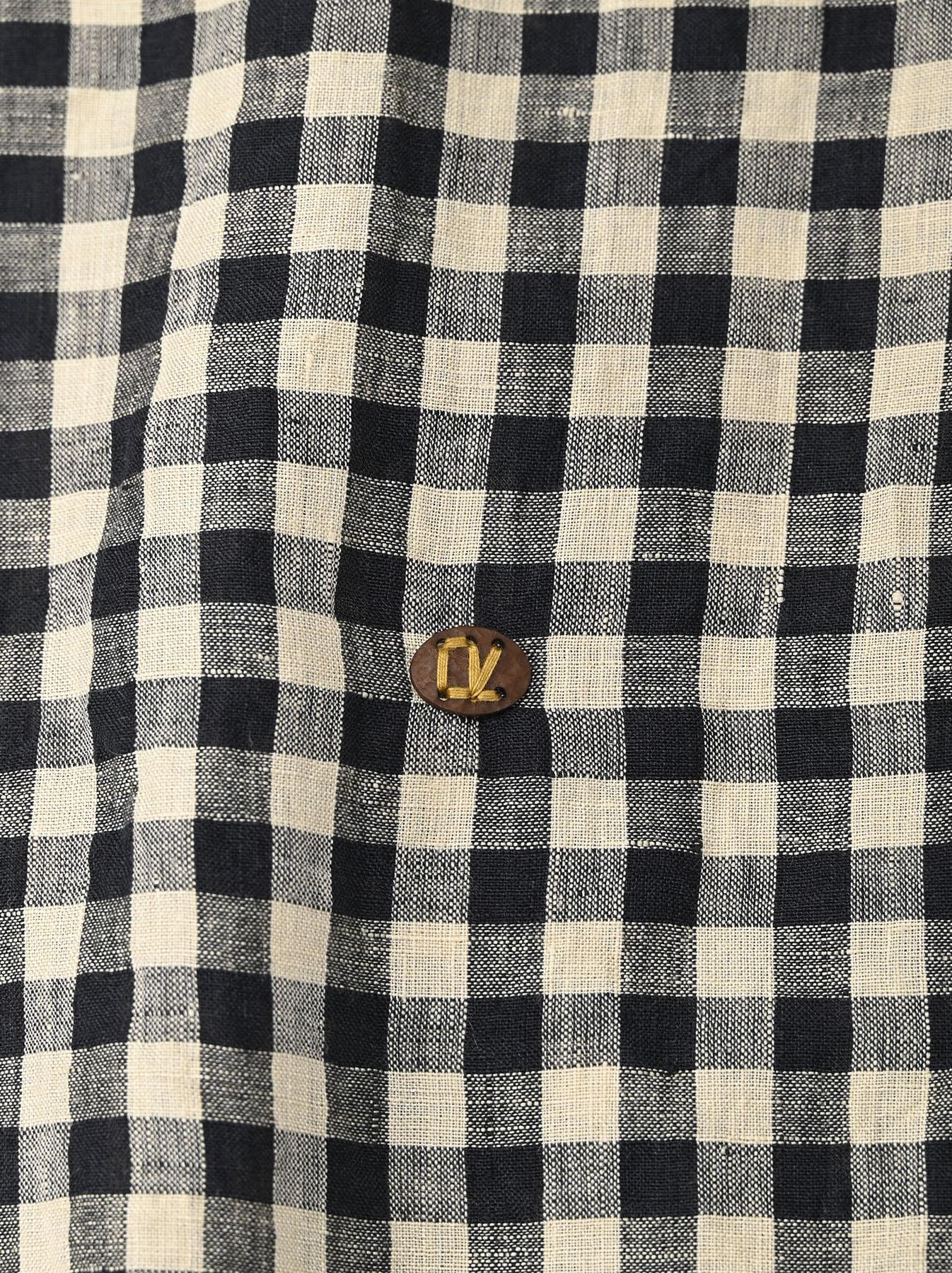 Indian Gauze Linen Capri Shirt-9