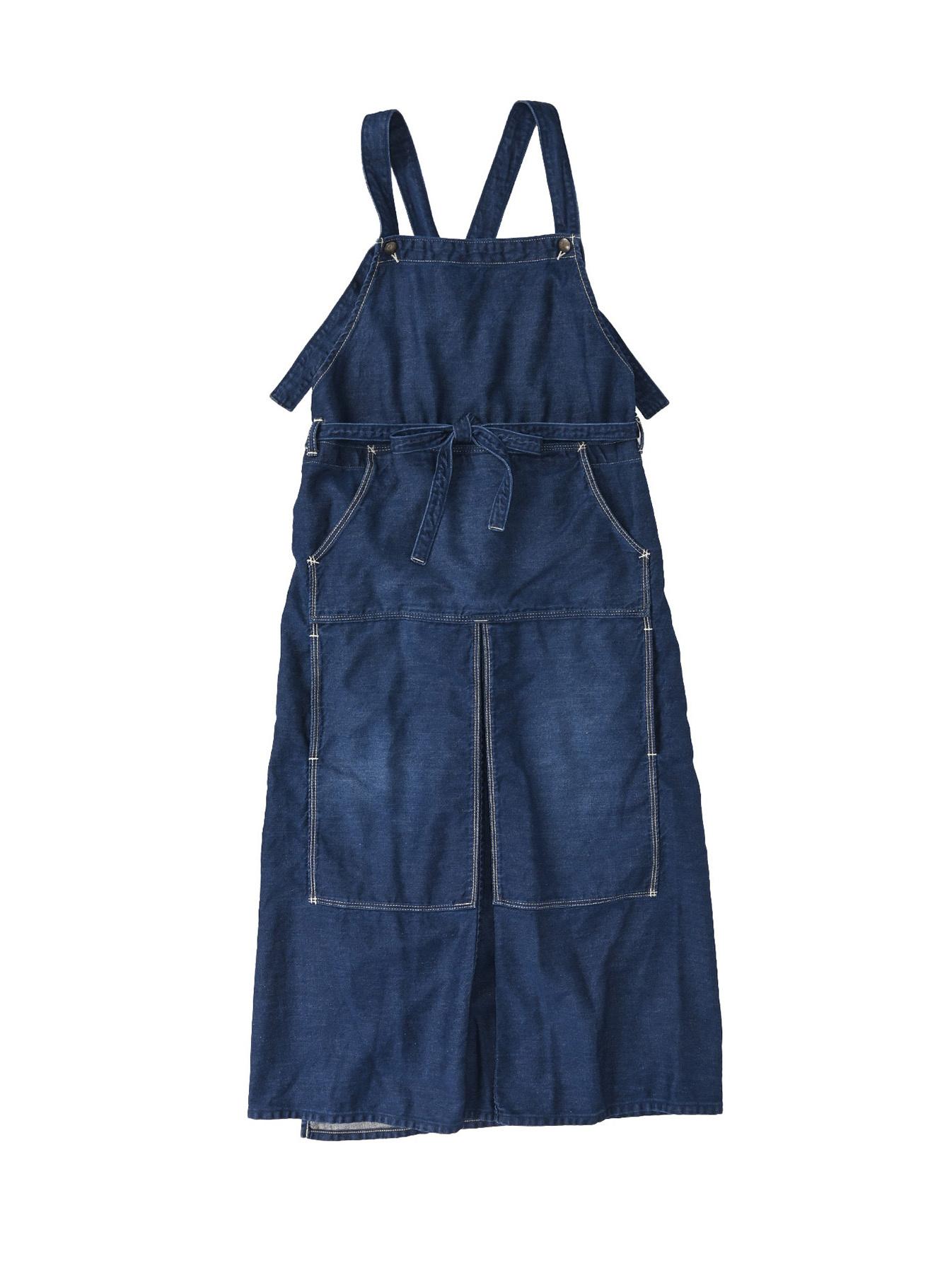 Komugi Denim Aprion Dress-1