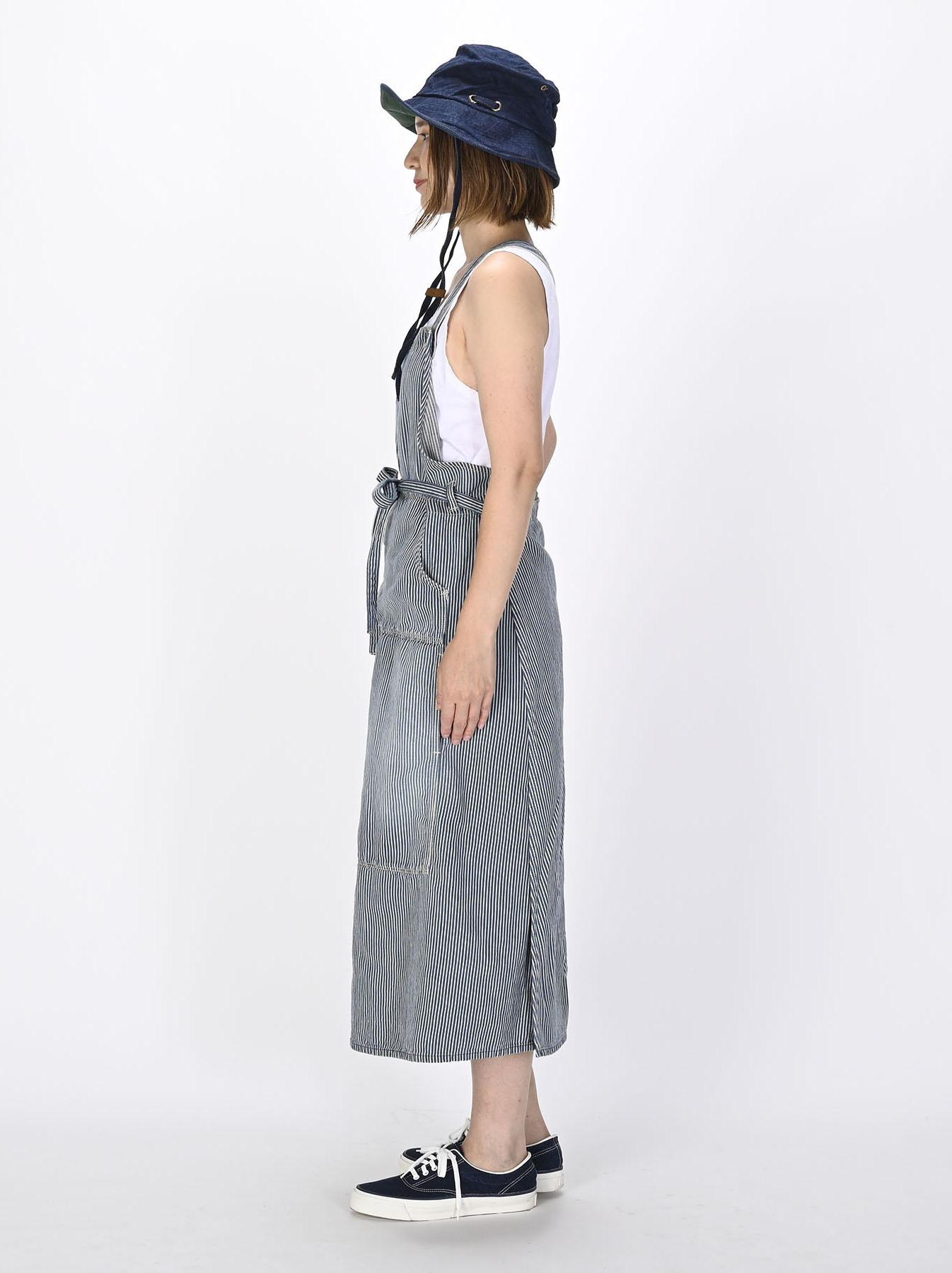 Komugi Denim Aprion Dress-3