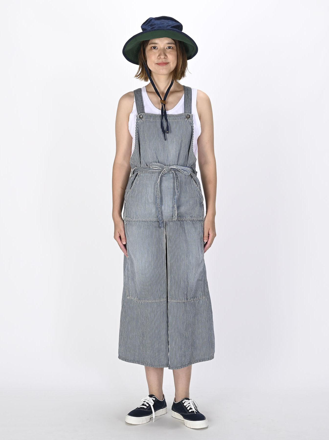 Komugi Denim Aprion Dress-2
